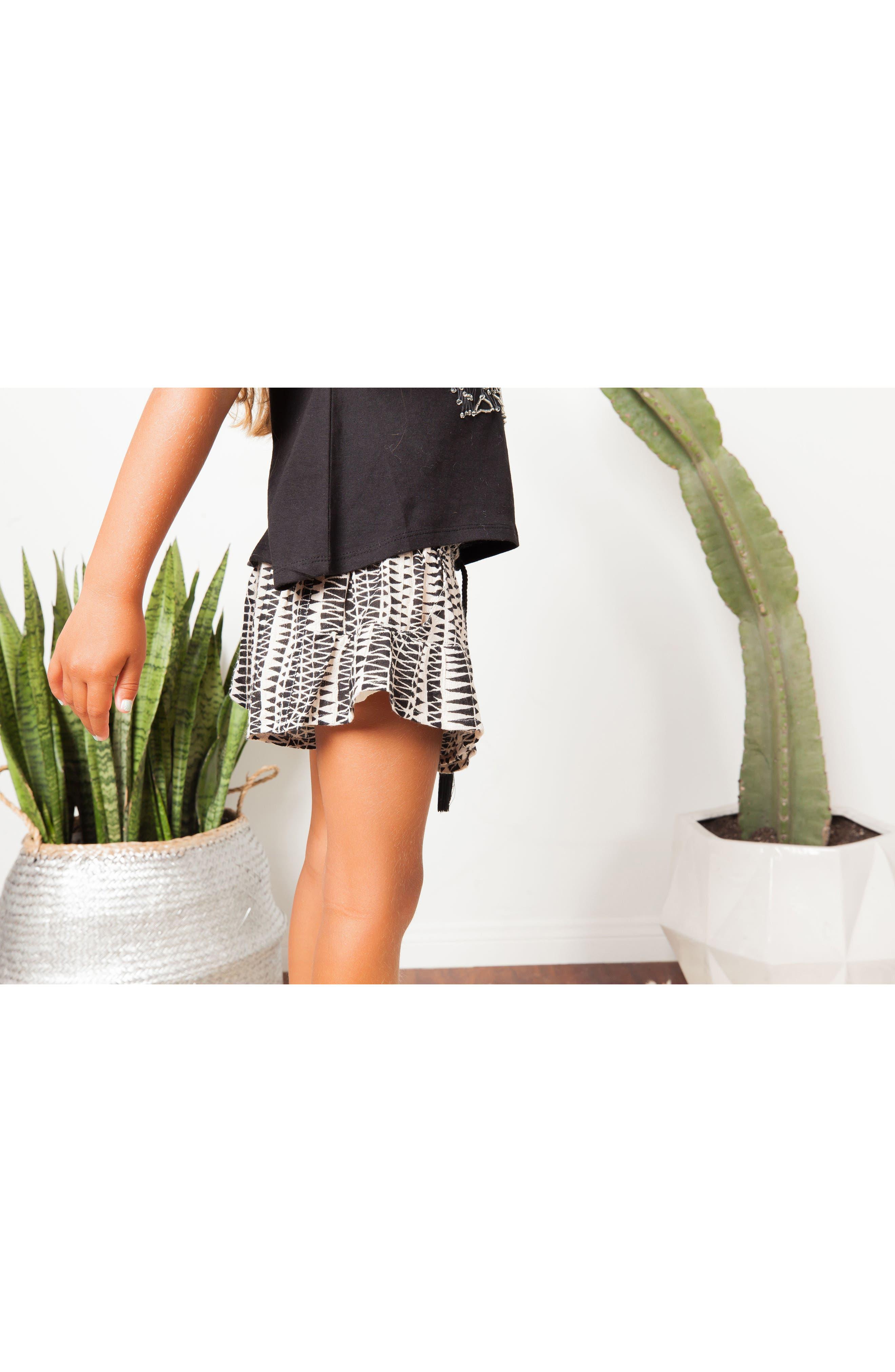 Little Dipper Print Shorts,                             Alternate thumbnail 4, color,                             BLACK