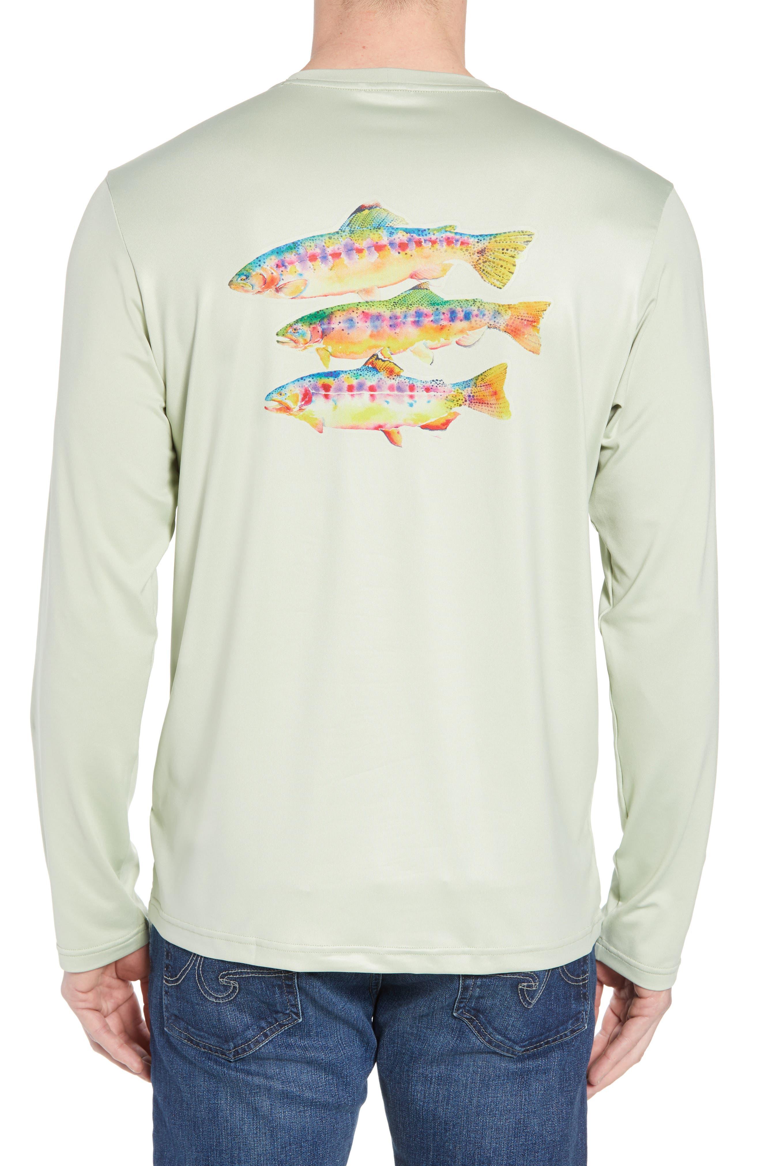 Tech Fish Graphic Long Sleeve T-Shirt,                             Alternate thumbnail 6, color,