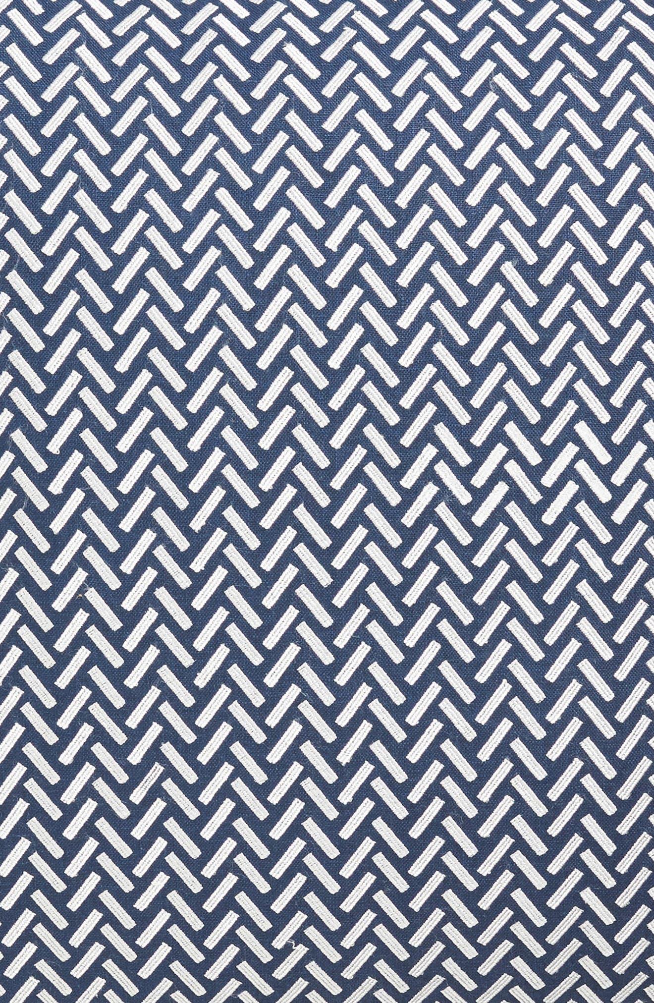 Corana Linen Pillow,                             Alternate thumbnail 3, color,                             NAVY/WHITE