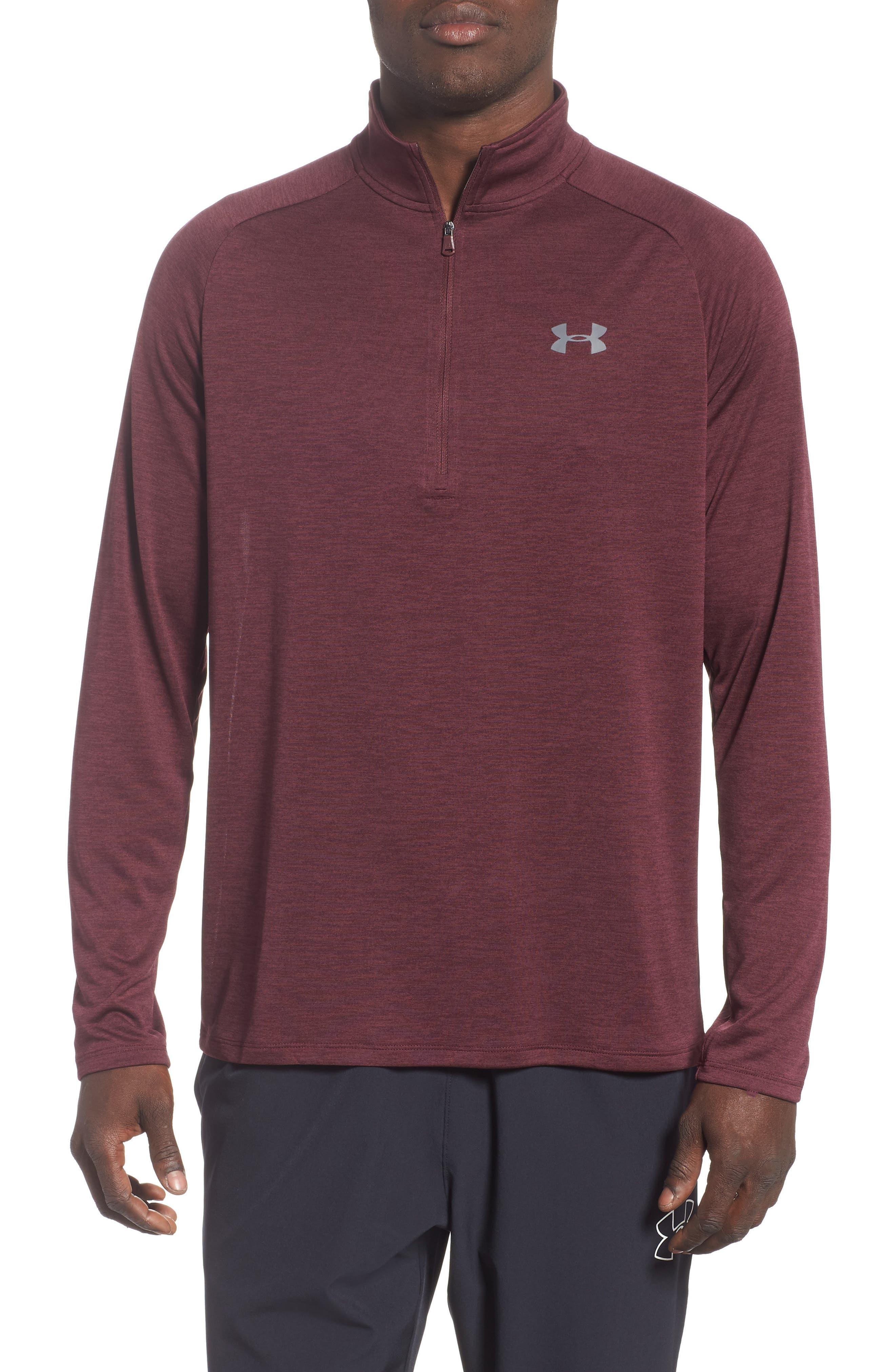 UNDER ARMOUR,                             Tech Half Zip Sweatshirt,                             Main thumbnail 1, color,                             600