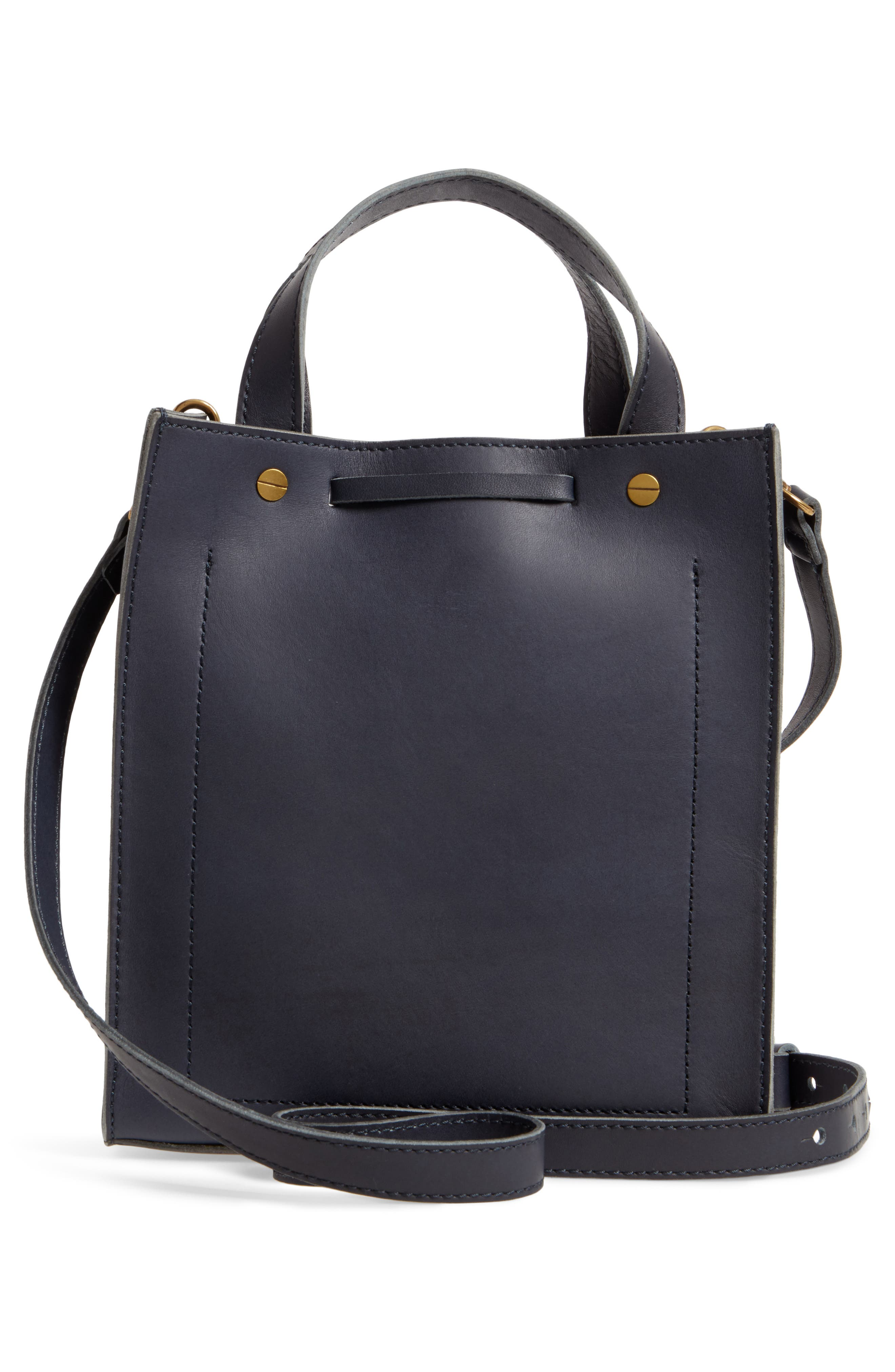 Small Trick Leather Top Handle Tote,                             Alternate thumbnail 6, color,