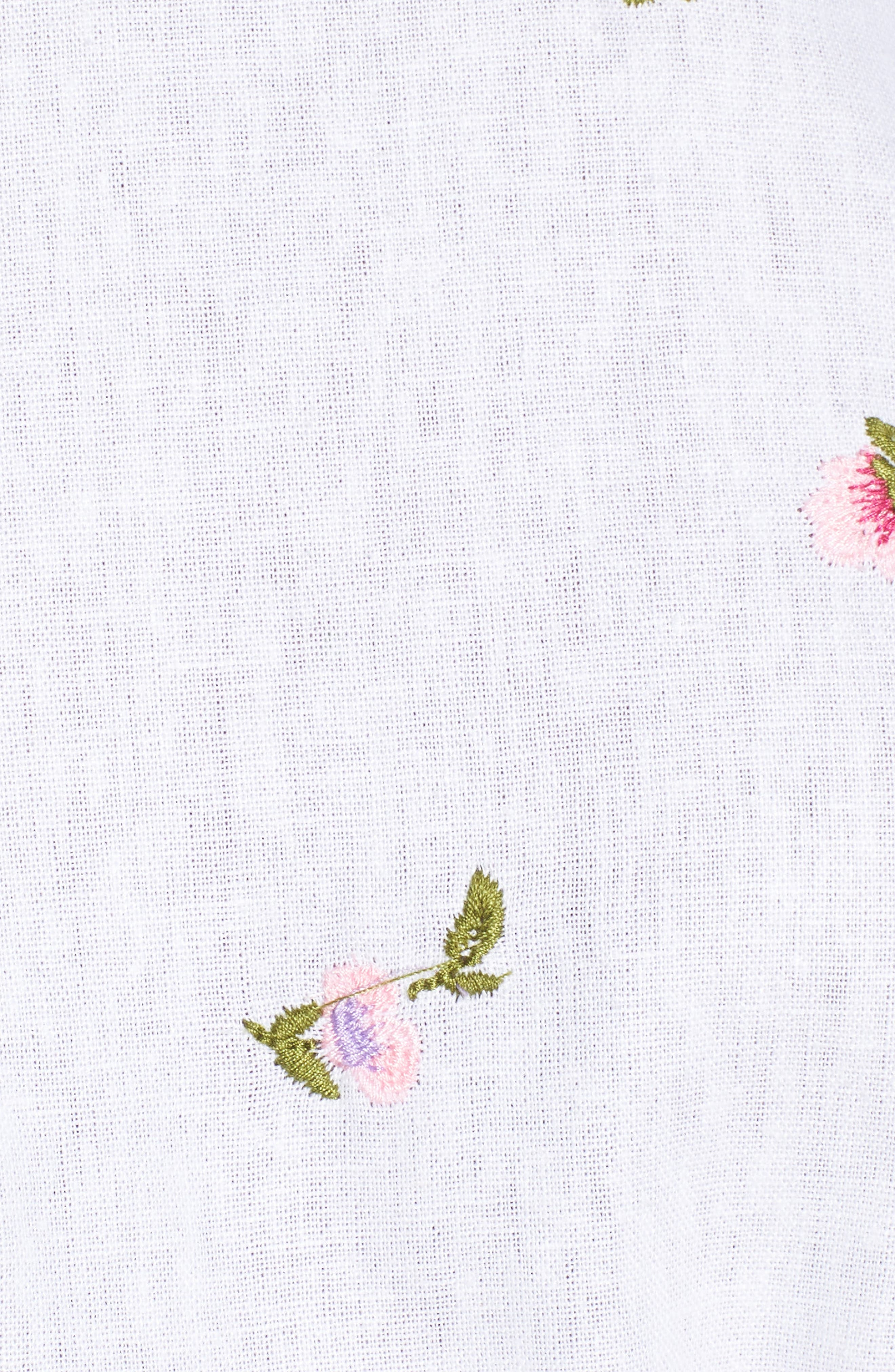 Tokyo Ruffle Sleeve Wrap Dress,                             Alternate thumbnail 6, color,                             DITSY EMBROIDERY