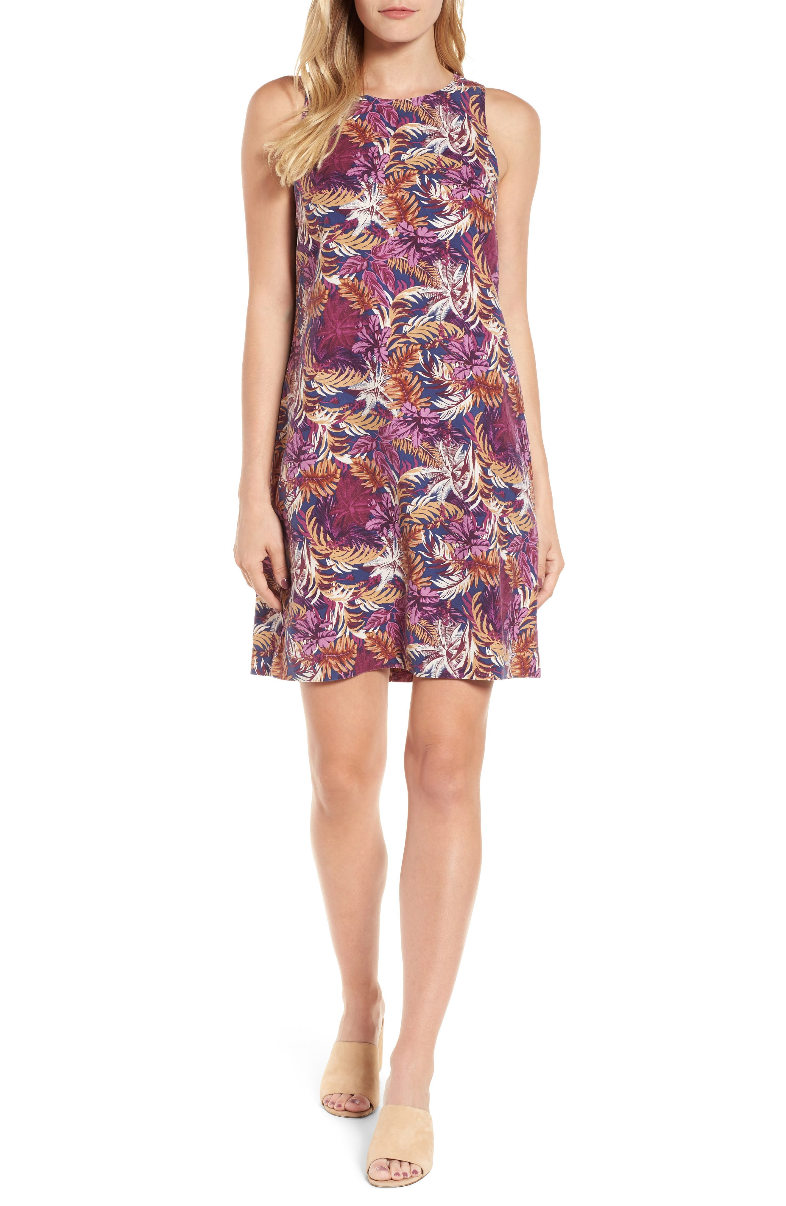 Ta-Leaf-A Silk Shift Dress,                         Main,                         color, 400