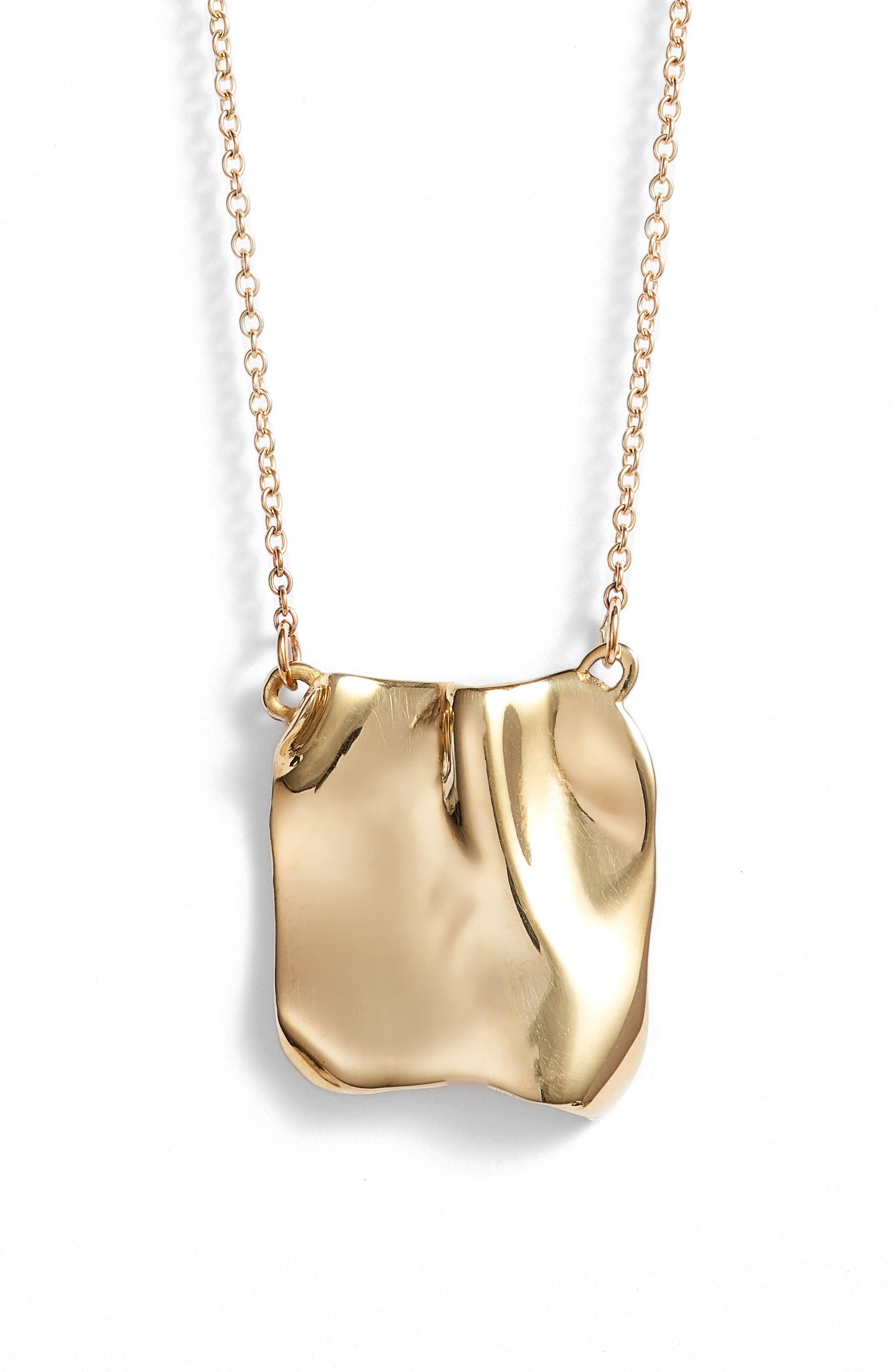 Tag Necklace,                         Main,                         color, BRONZE