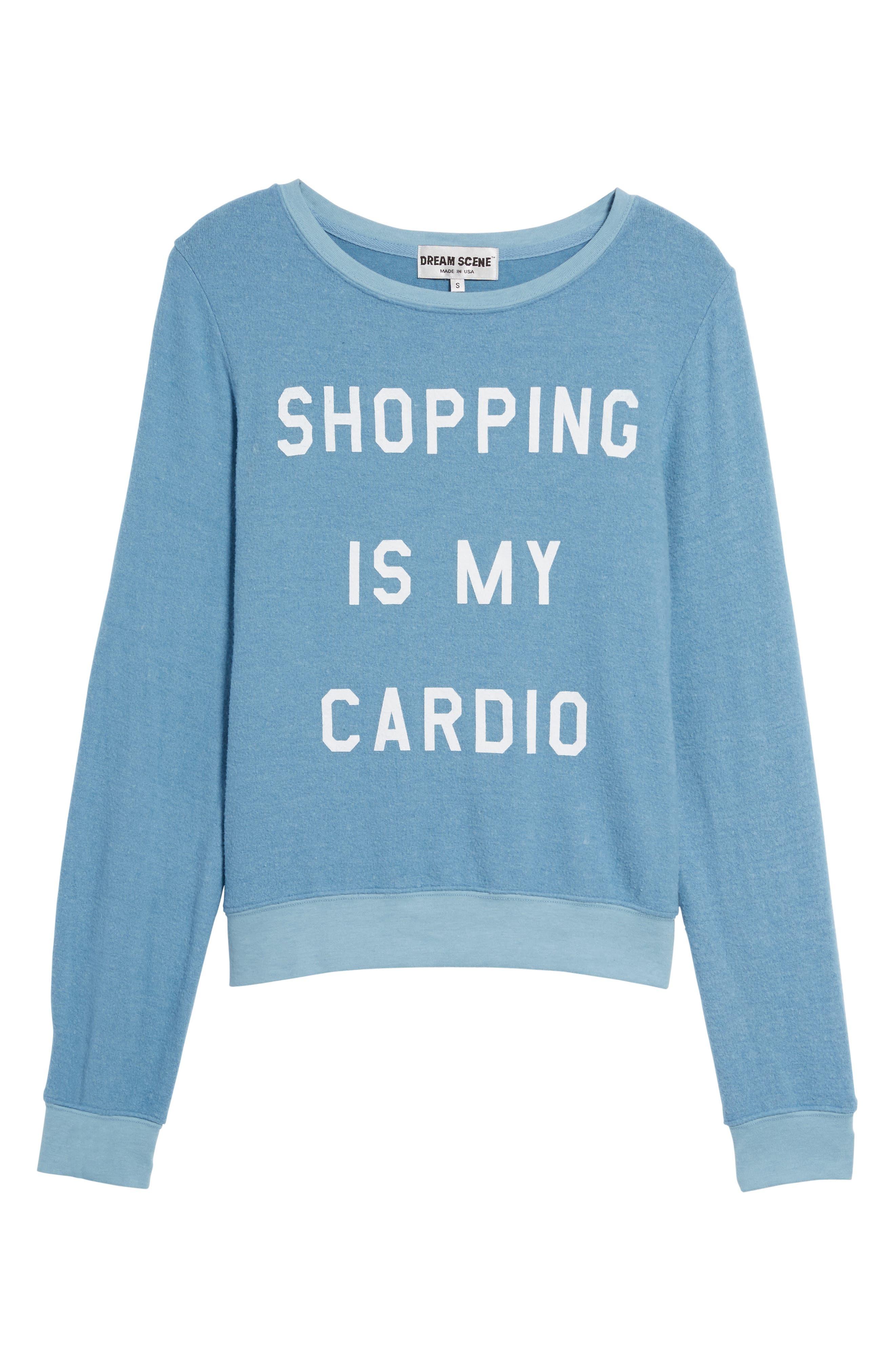 Shopping is My Cardio Sweatshirt,                             Alternate thumbnail 6, color,                             400