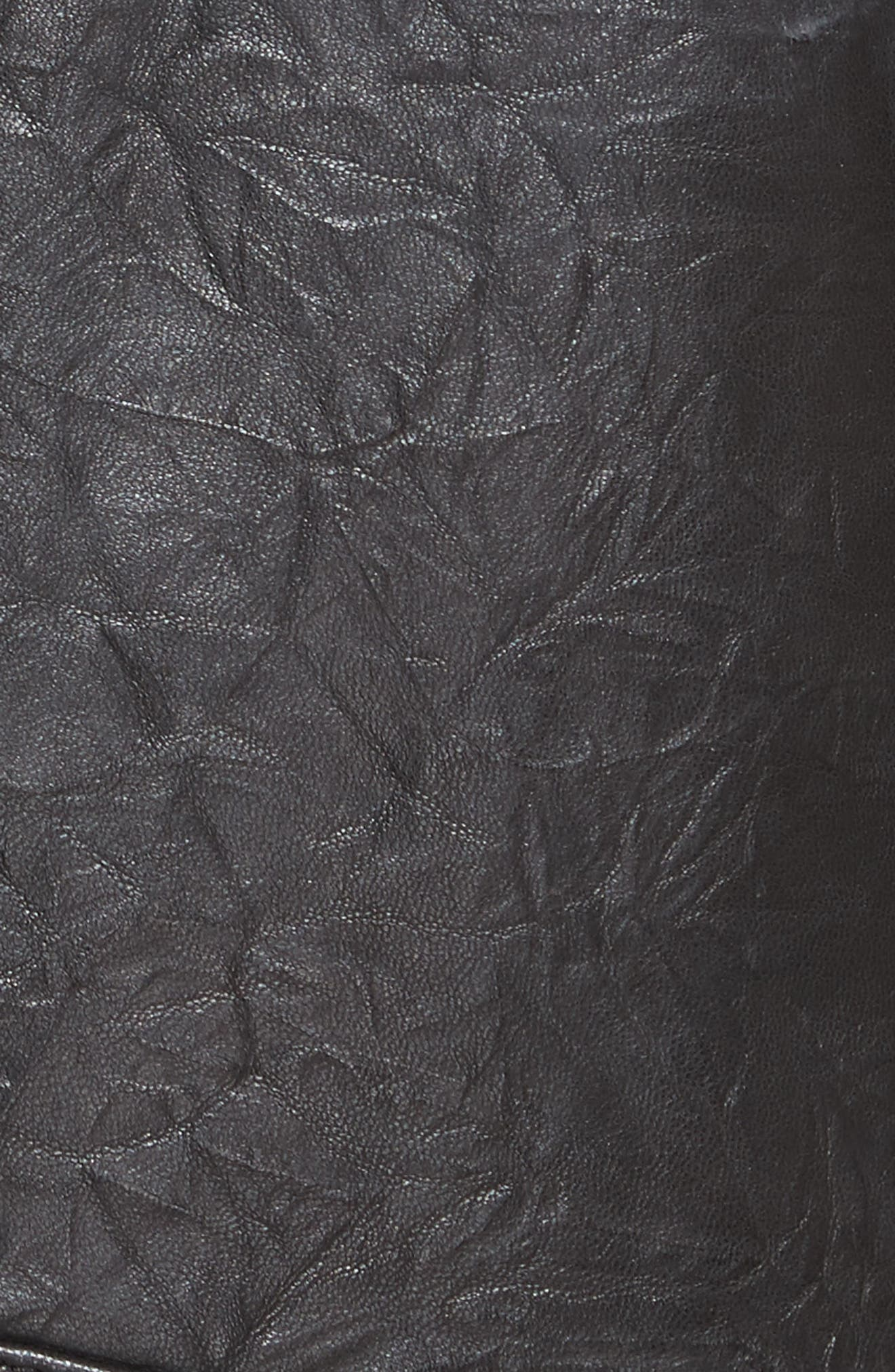 JOIE,                             Kameke Viva La Femme Lambskin Leather Jacket,                             Alternate thumbnail 6, color,                             001