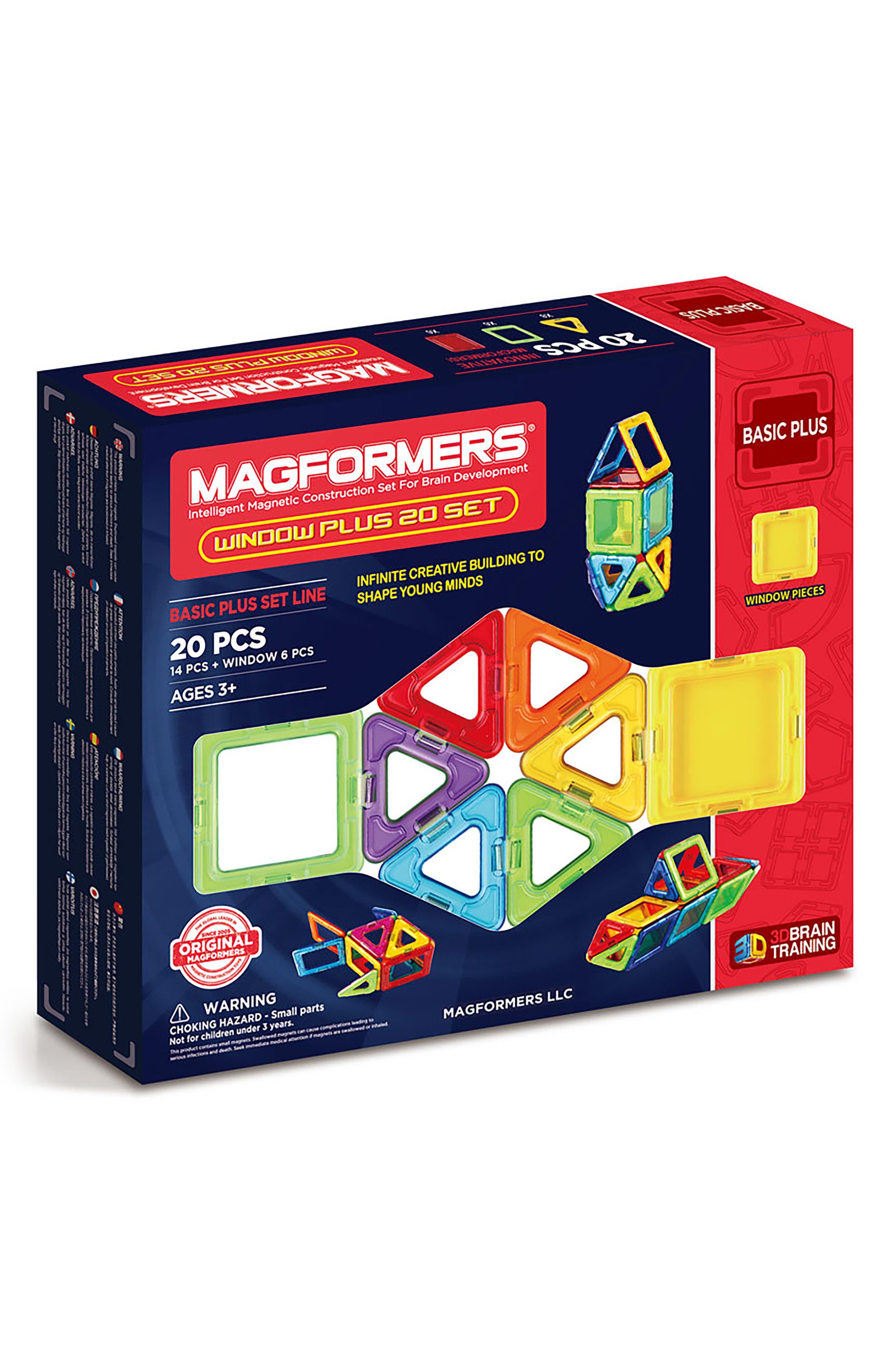 20-Piece Window Plus Magnetic 3D Construction Set,                         Main,                         color, 400