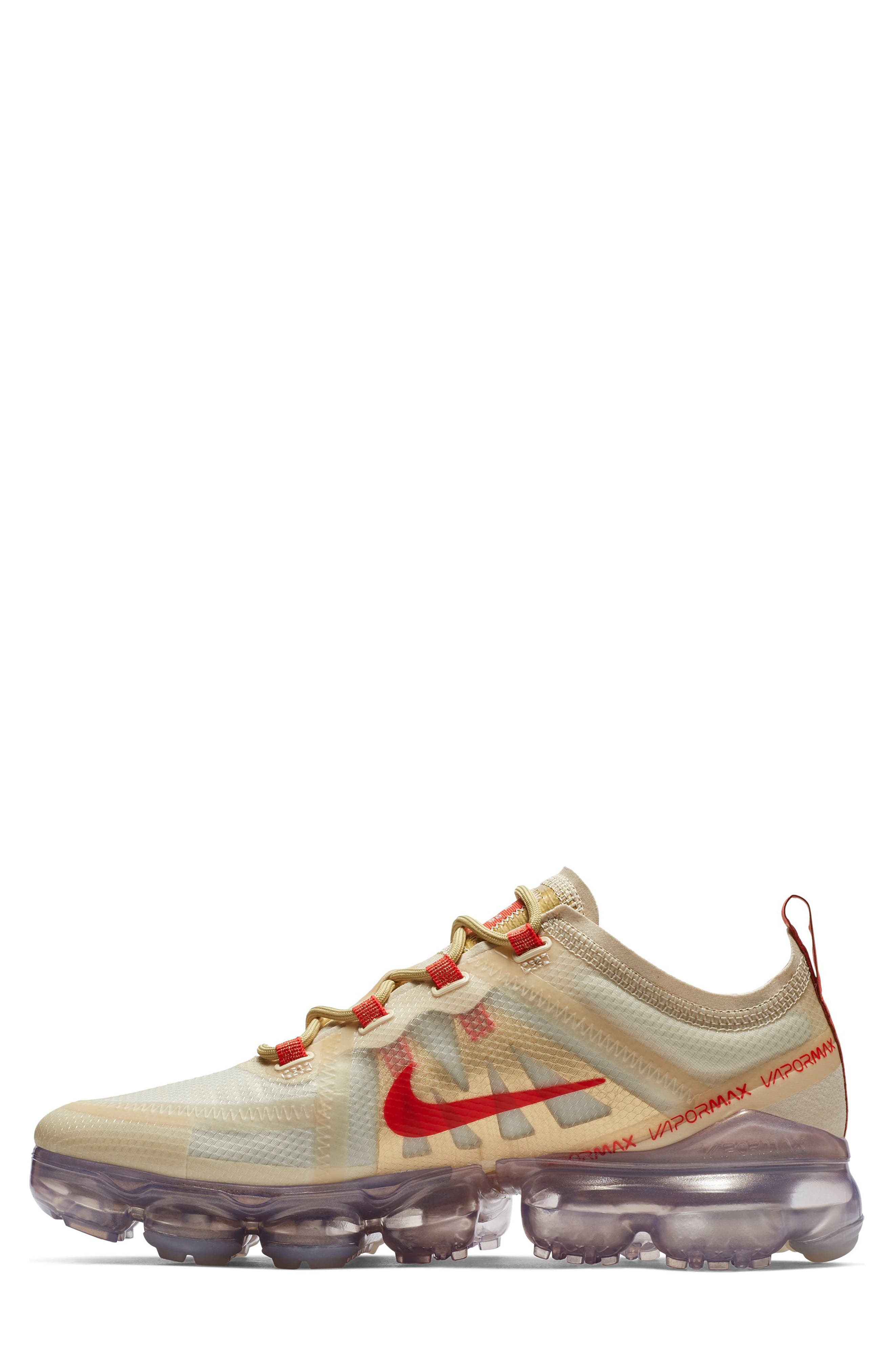 Air VaporMax 2019 Chinese New Year Running Shoe,                             Alternate thumbnail 3, color,                             CREAM/ HABANERO RED/ CLUB GOLD