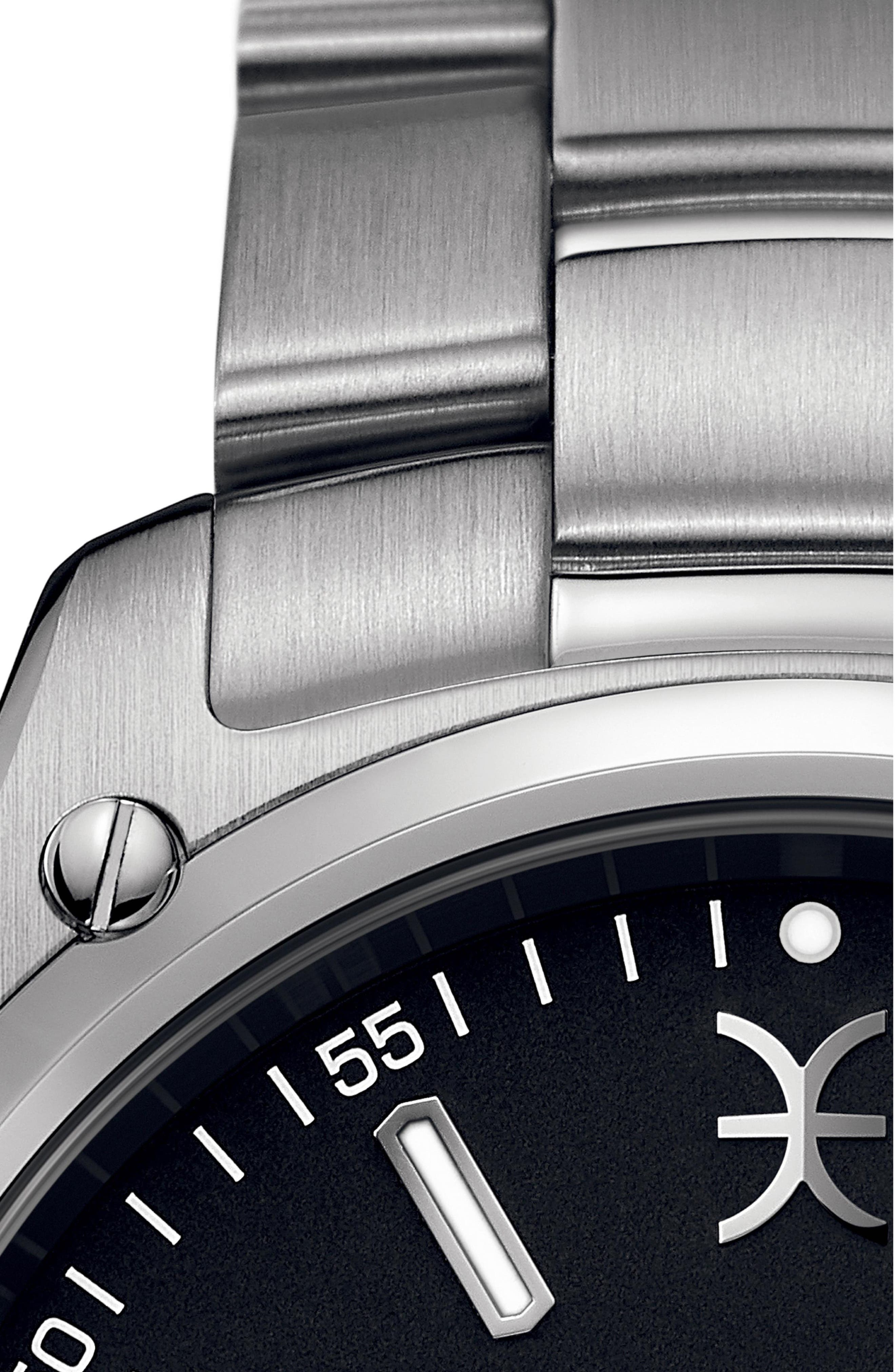EBEL,                             Discovery Bracelet Watch, 41mm,                             Alternate thumbnail 3, color,                             SILVER/ BLACK/ SILVER