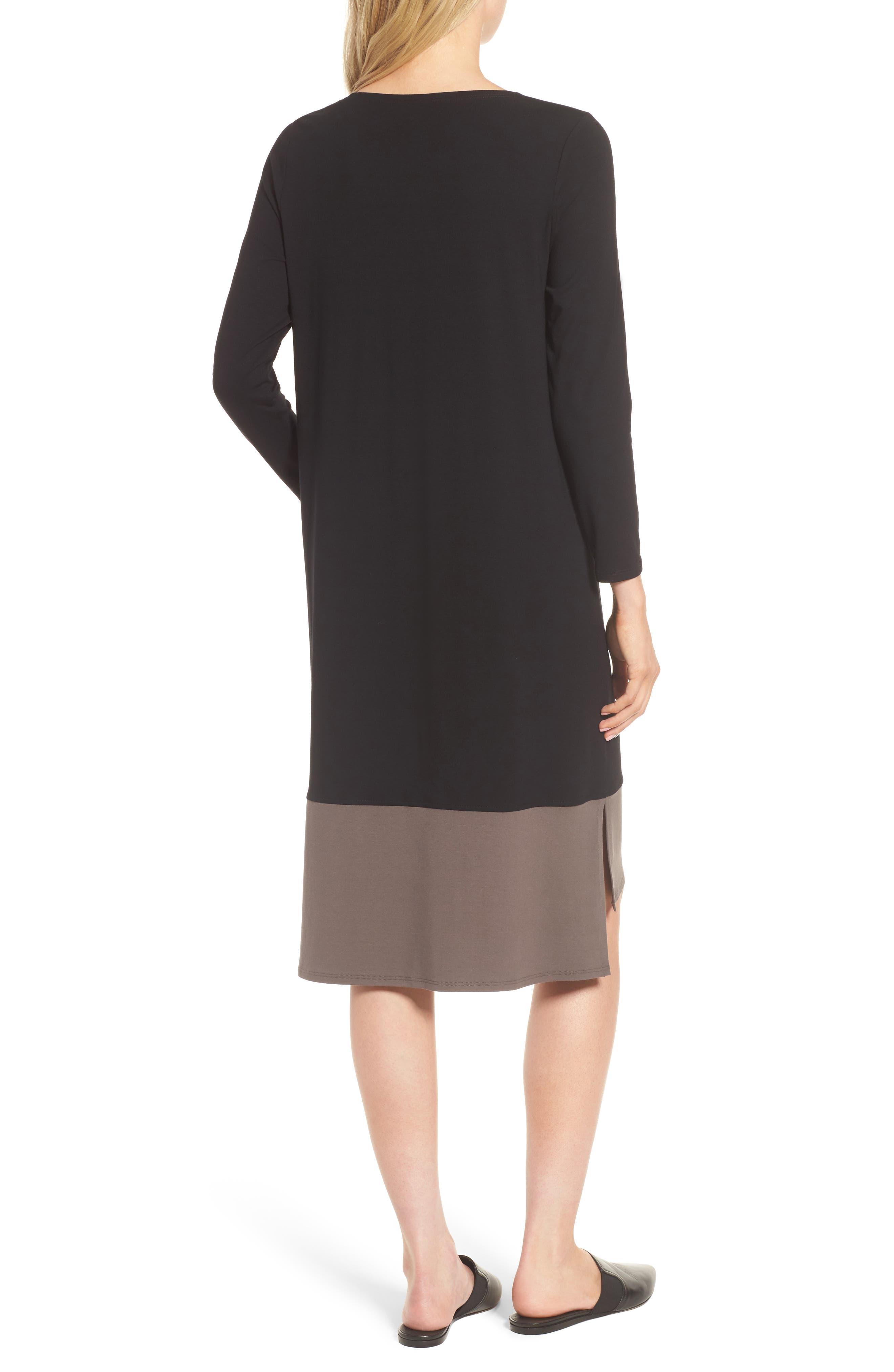 Colorblock Jersey Shift Dress,                             Alternate thumbnail 2, color,