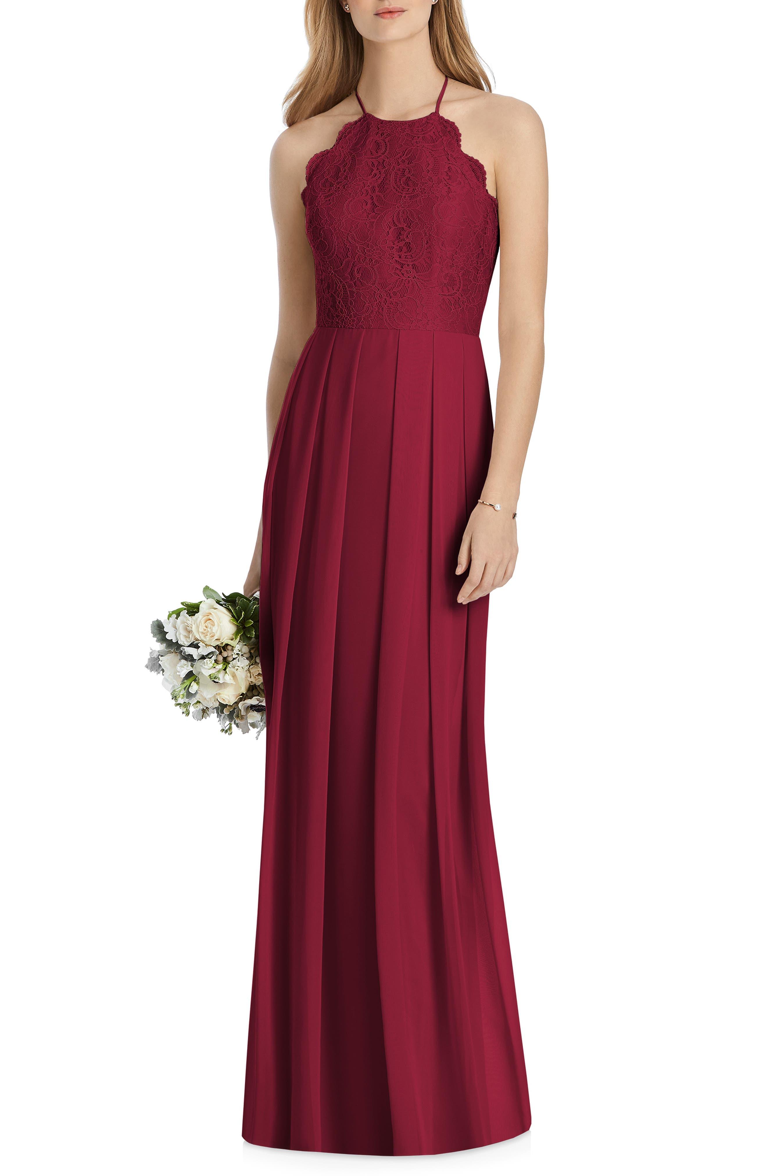 Lela Rose Bridesmaid Lux Chiffon Dress, Red
