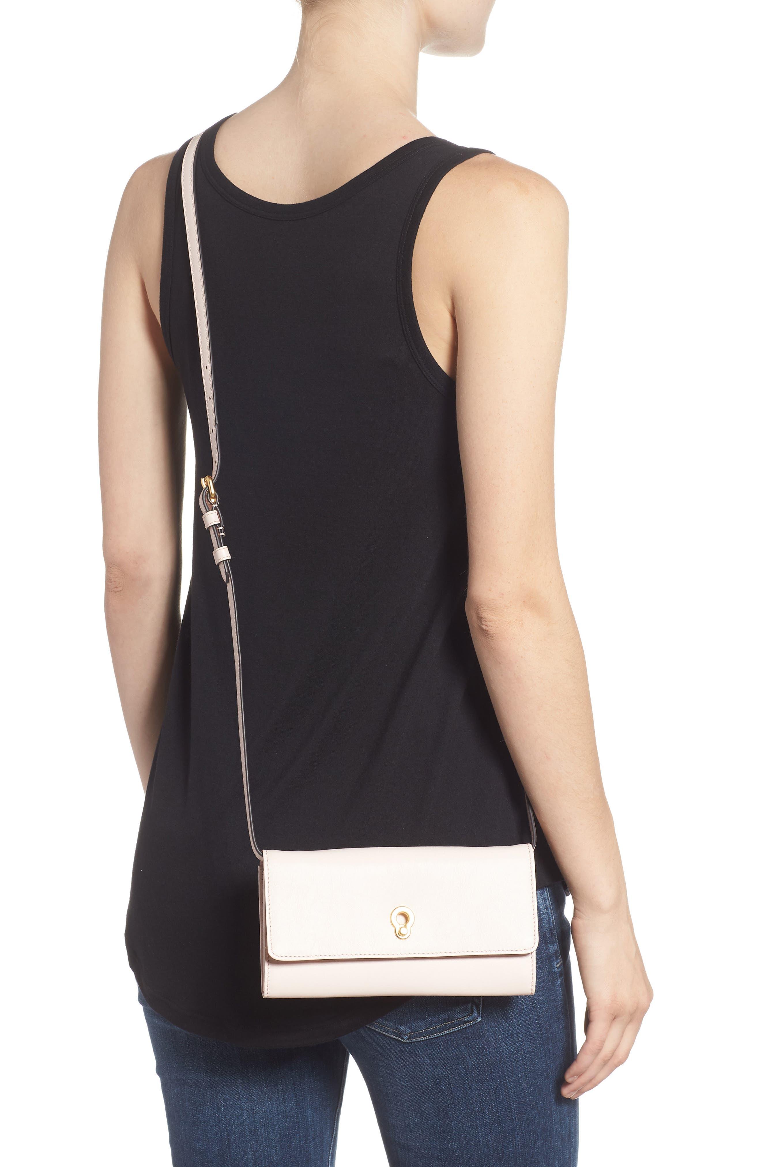 Zoe Leather Smartphone Crossbody Bag,                             Alternate thumbnail 2, color,                             650