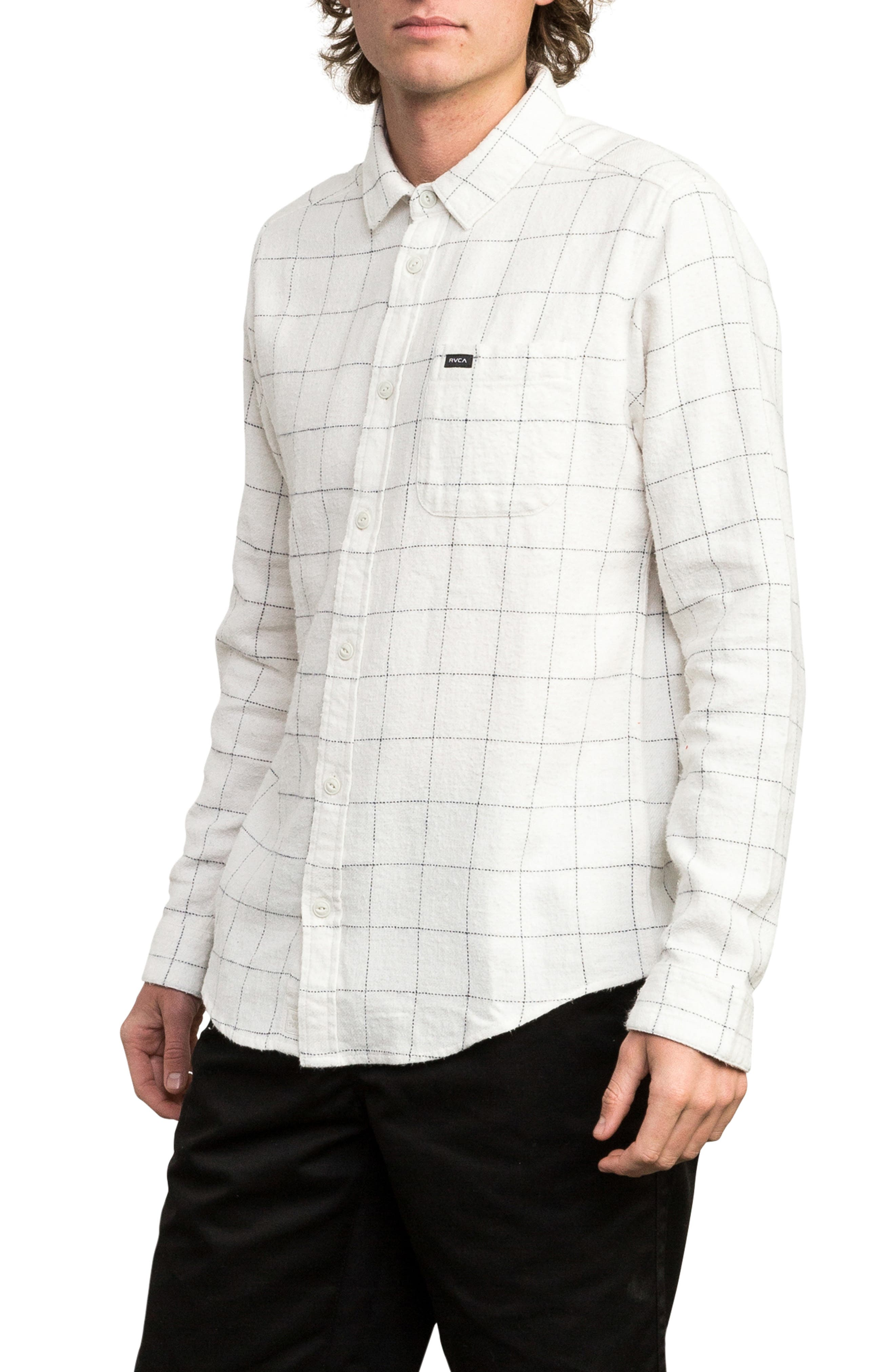 Arc Flannel Shirt,                             Alternate thumbnail 3, color,                             SILVER BLEACH