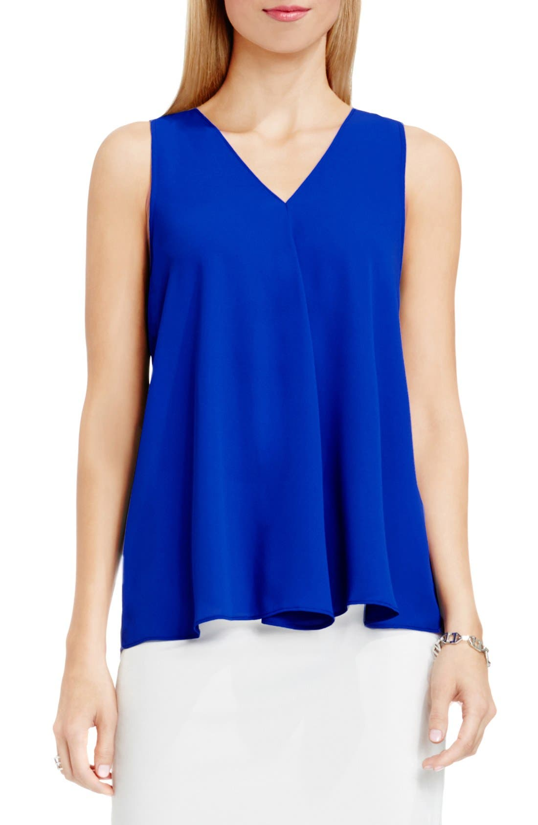 Drape Front V-Neck Sleeveless Blouse,                             Main thumbnail 11, color,