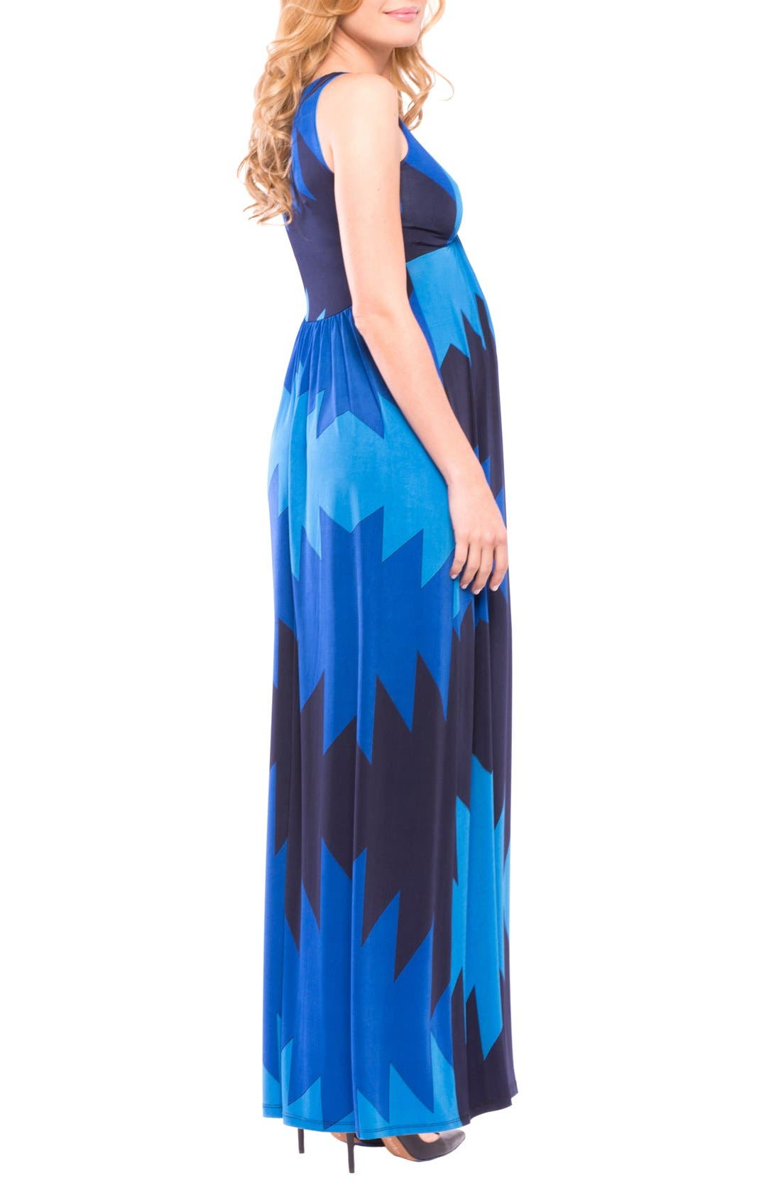 Olivia Sleeveless Maternity Maxi Dress,                             Alternate thumbnail 6, color,