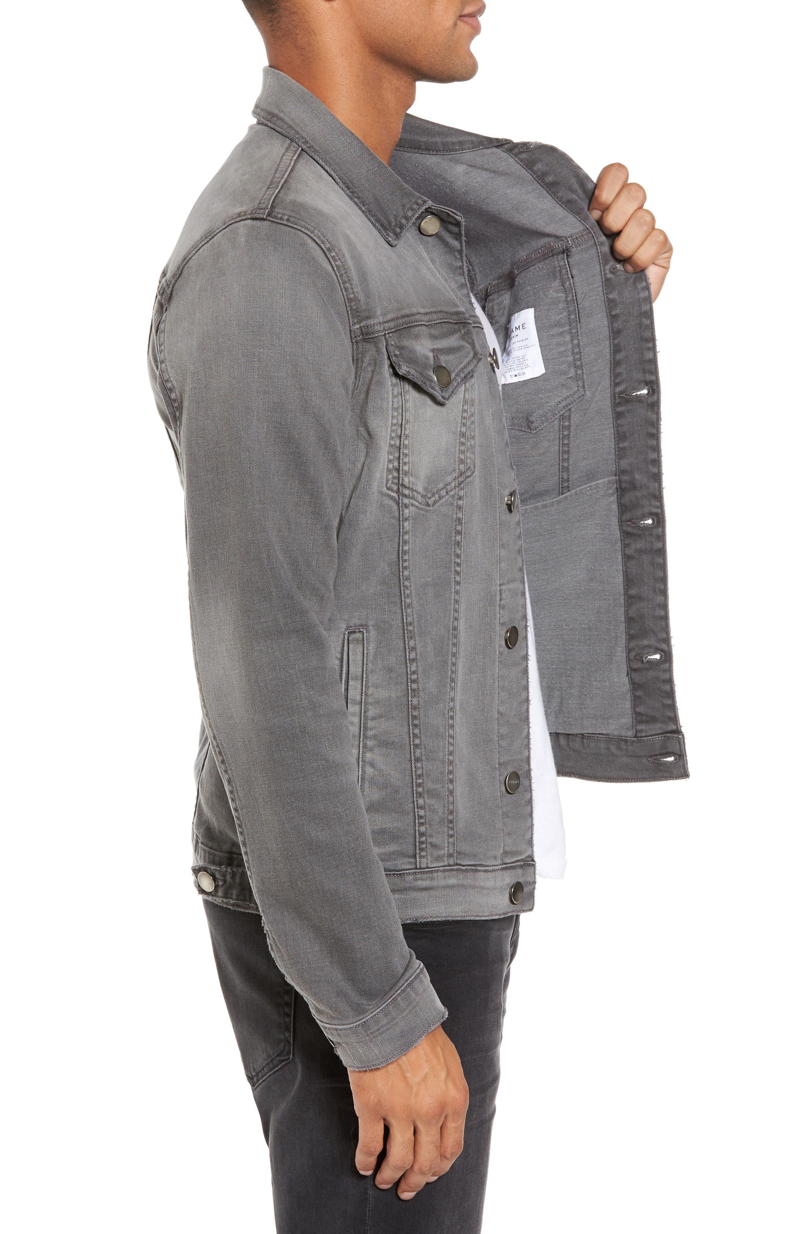 L'Homme Denim Jacket,                             Alternate thumbnail 3, color,                             GRAYSON