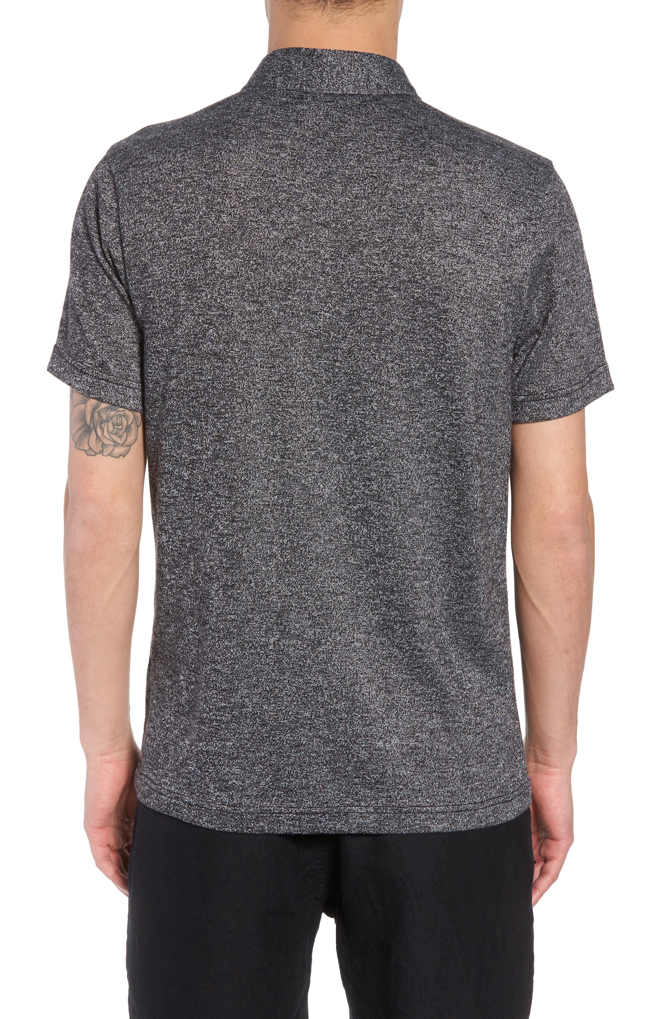 Marled Knit Polo,                             Alternate thumbnail 2, color,                             001