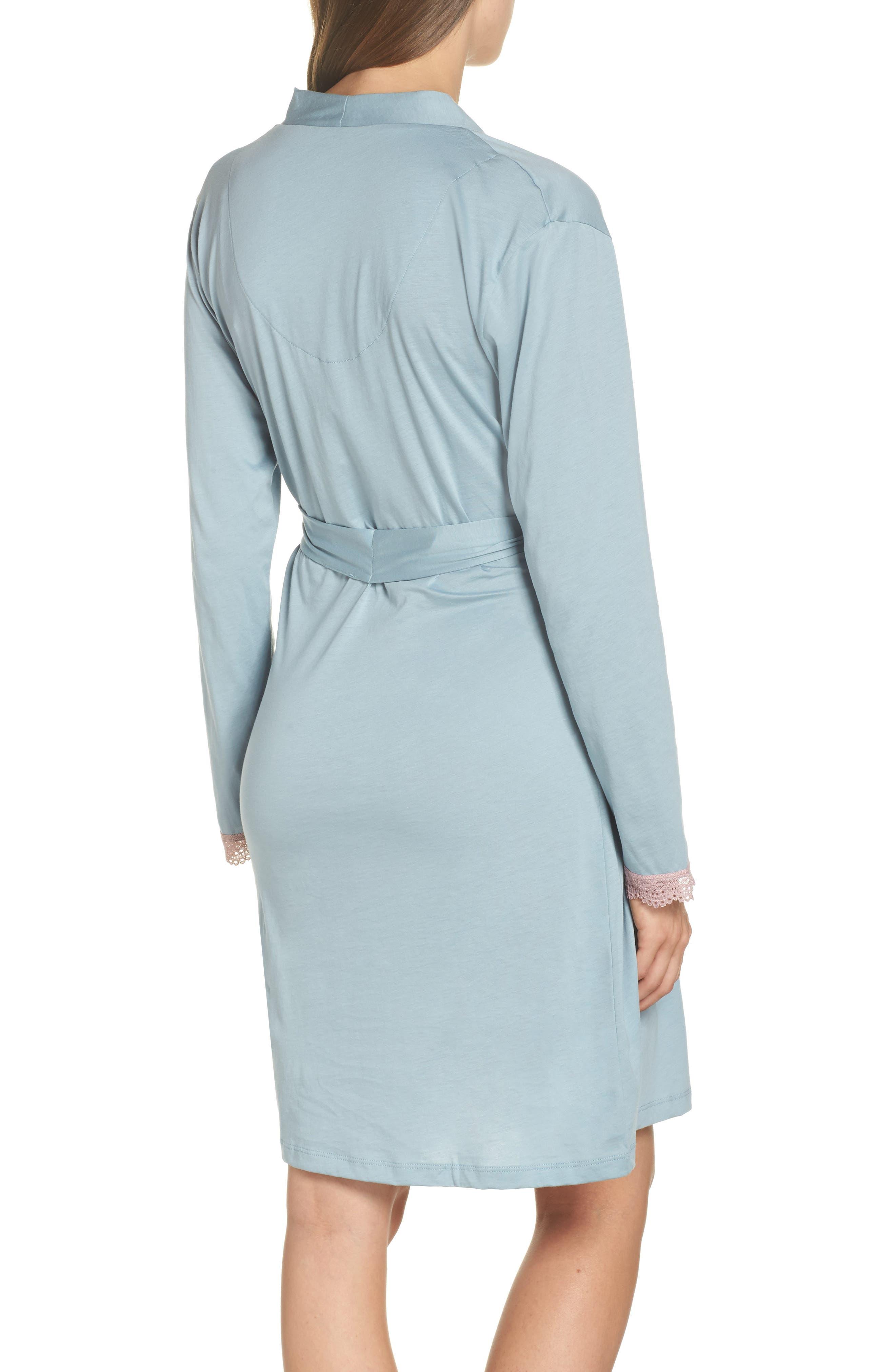 Maternity/Nursing Robe,                             Alternate thumbnail 2, color,                             ROBINS EGG BLUE