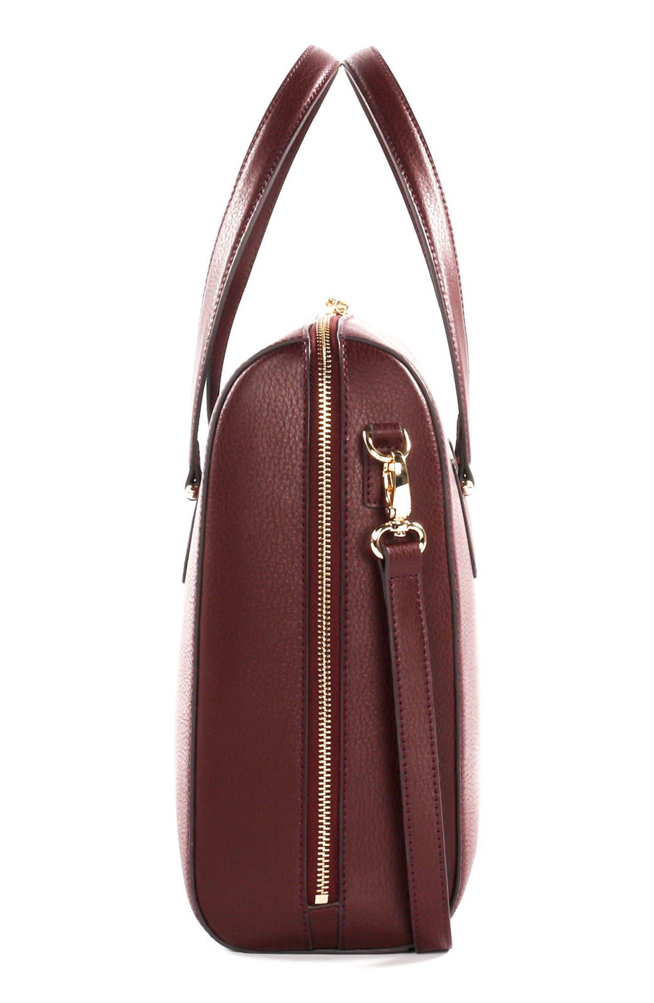 Céline Dion Triad Leather Satchel,                             Alternate thumbnail 12, color,
