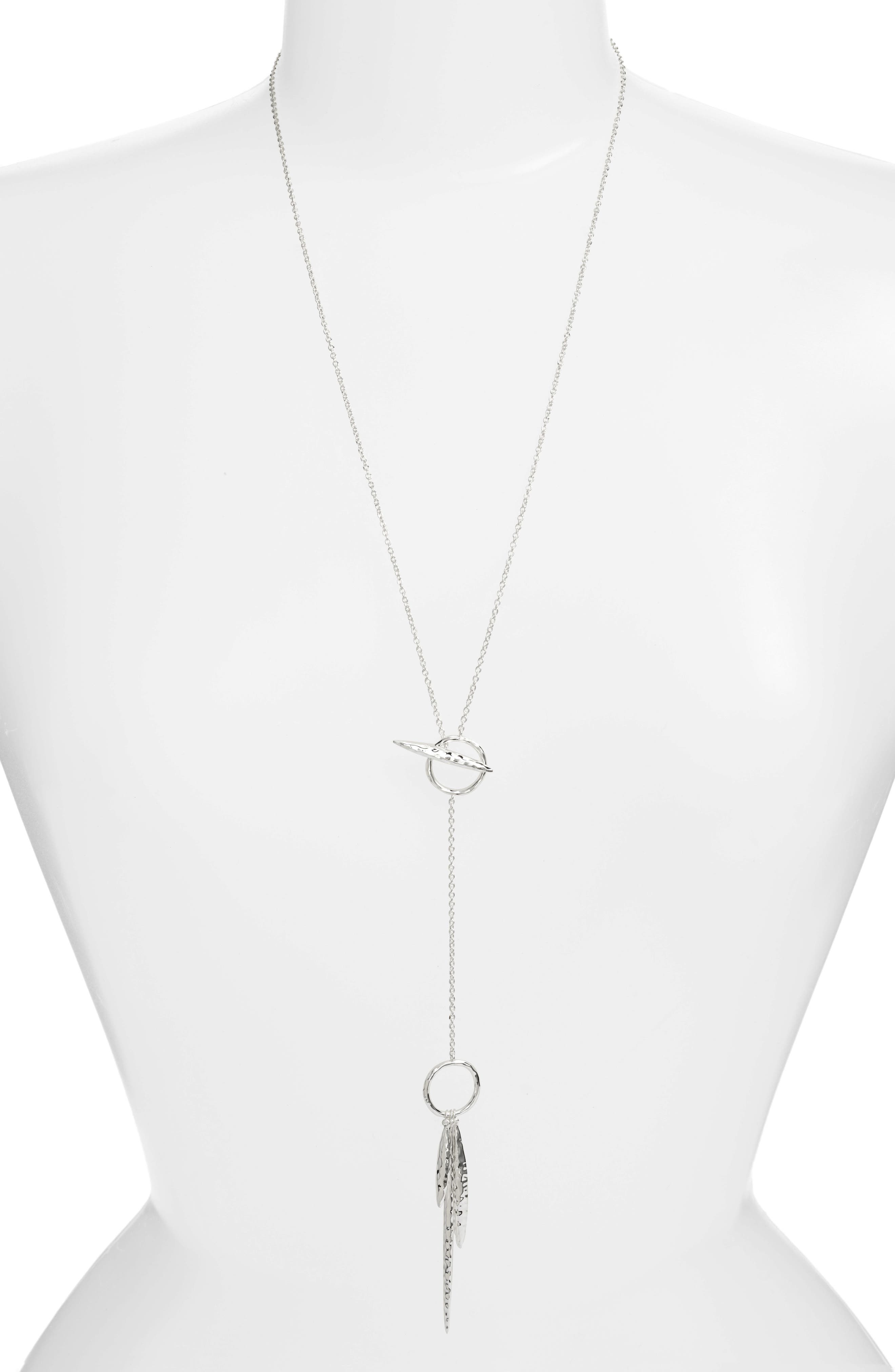 Nora Hammered Toggle Necklace,                         Main,                         color,