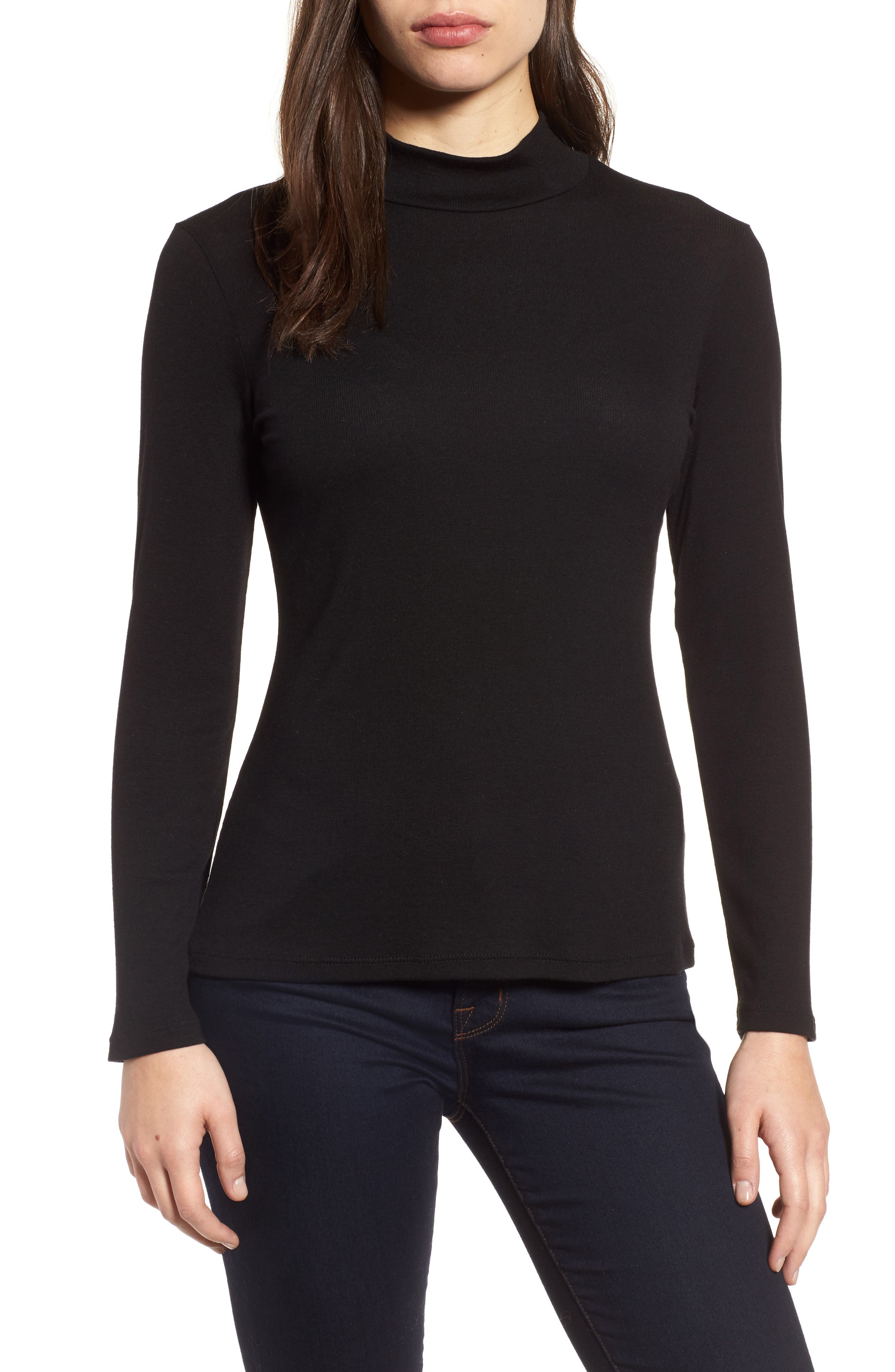 Stretch Tencel<sup>®</sup> Top,                         Main,                         color, 001