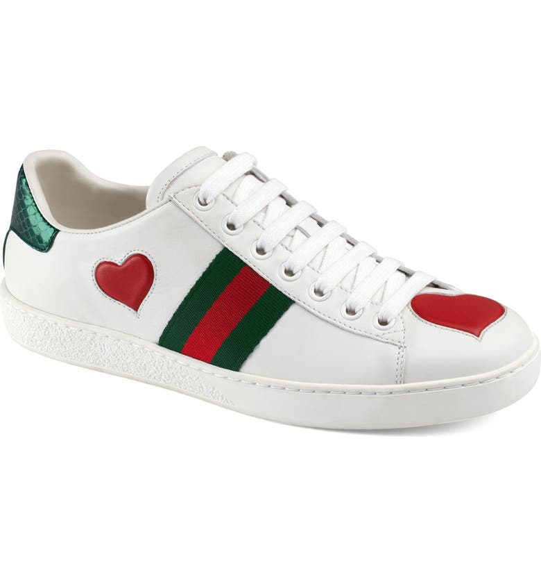 dc0a8db66 Gucci Ace Snakeskin-Trimmed Leather Sneakers In White | ModeSens