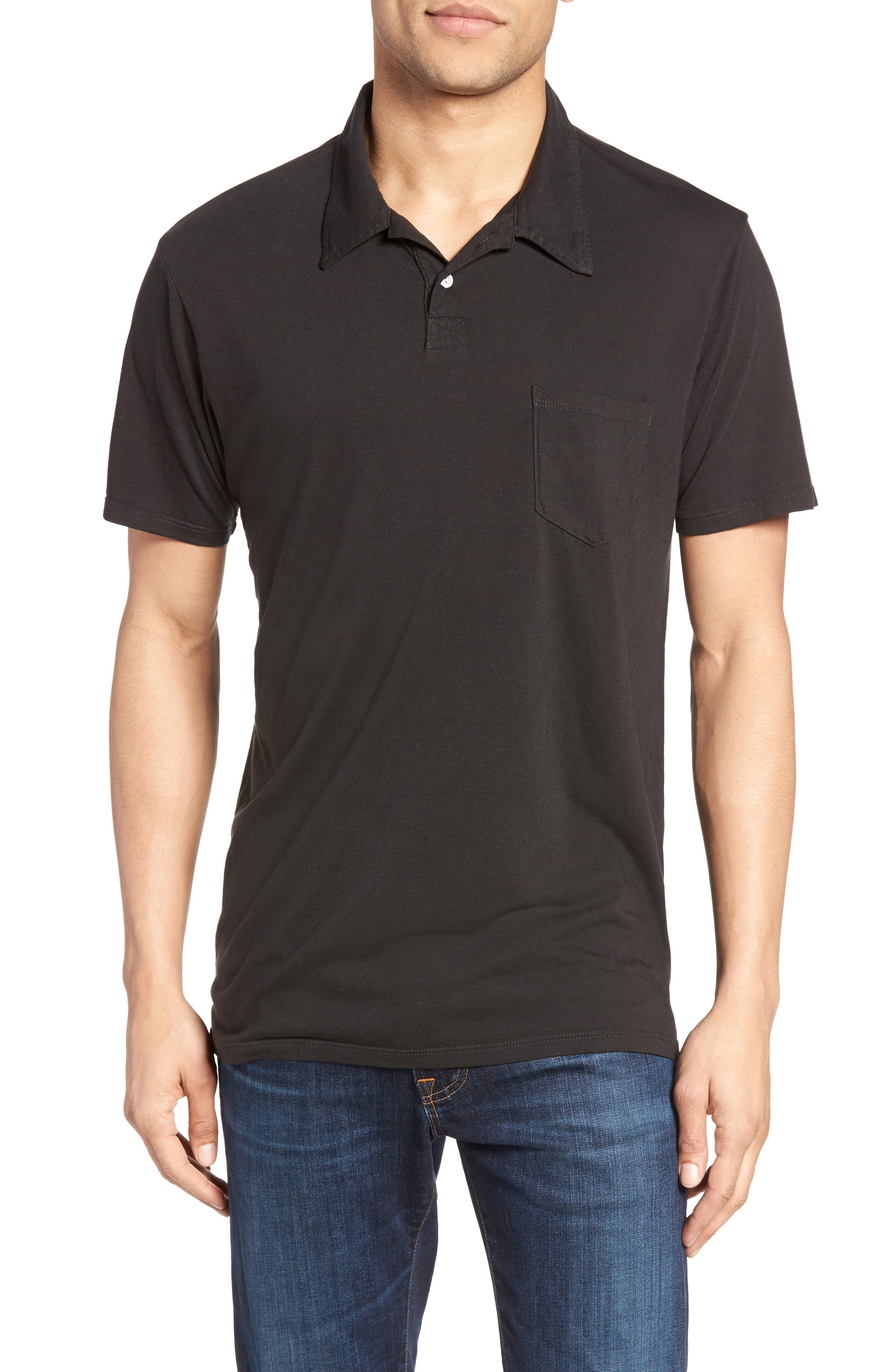 Essential Jersey Polo,                             Main thumbnail 1, color,                             001