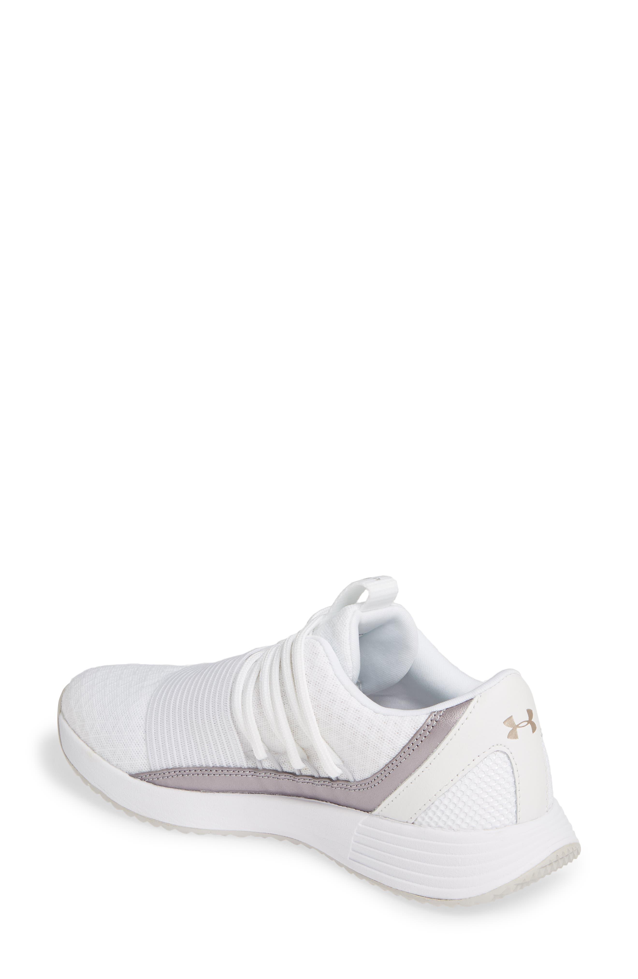 UNDER ARMOUR,                             Breathe Lace X NM Sneaker,                             Alternate thumbnail 2, color,                             WHITE/ WHITE/ METALLIC BLUSH