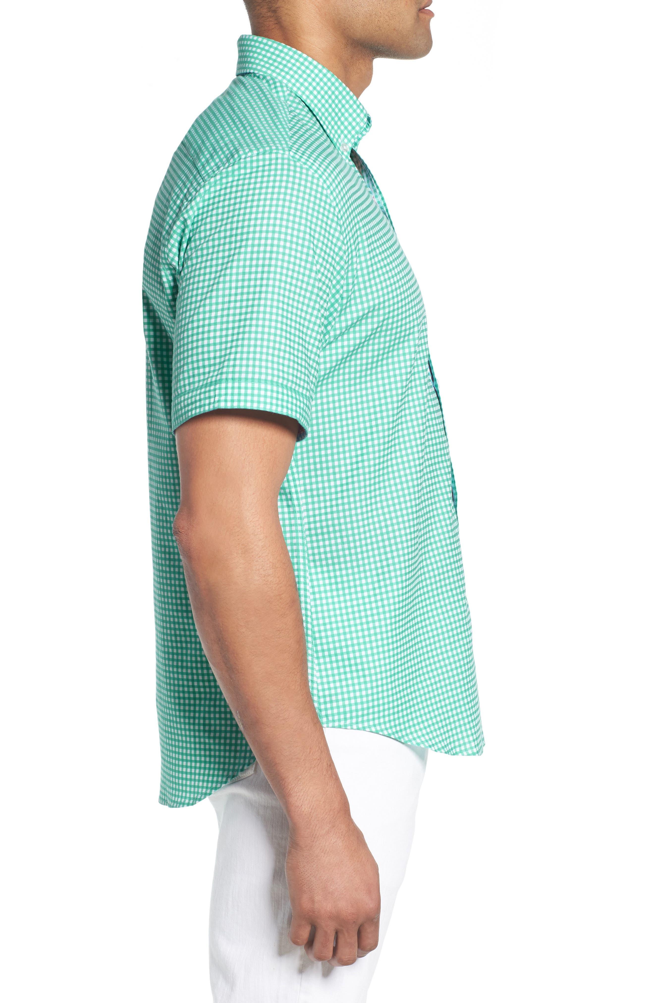 Arlo Regular Fit Check Sport Shirt,                             Alternate thumbnail 3, color,                             300