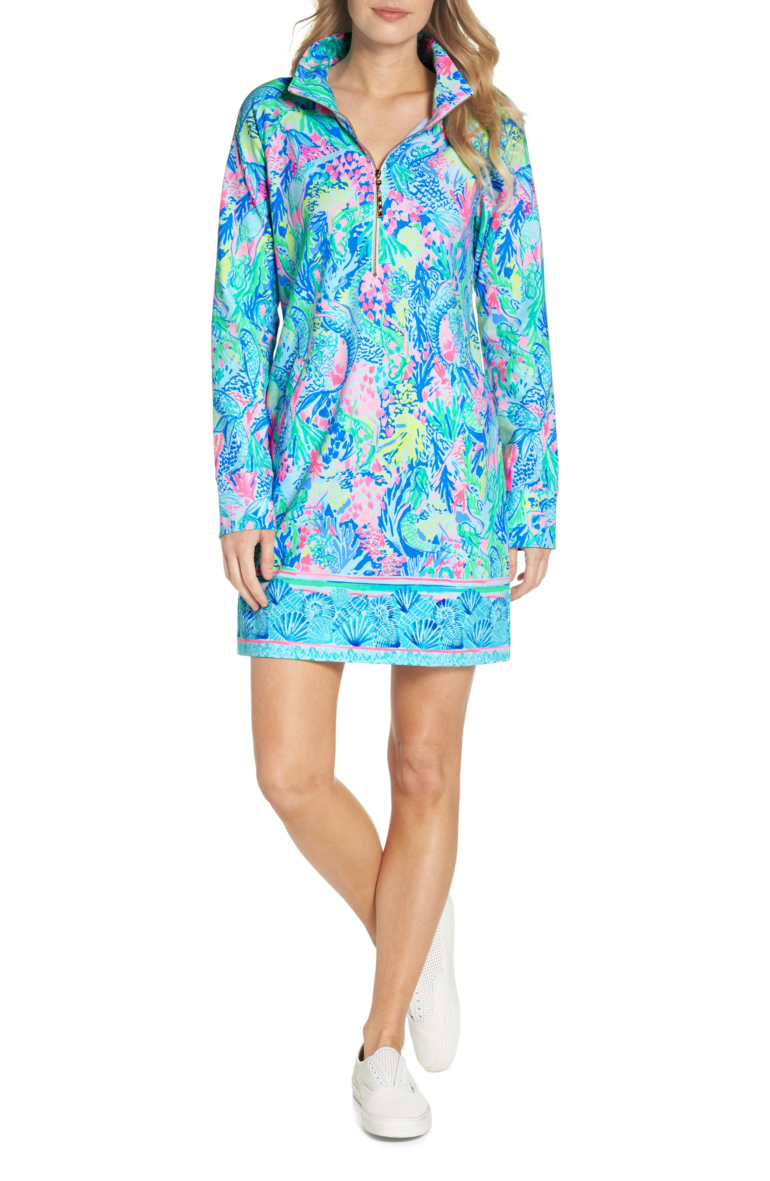 LILLY PULITZER<SUP>®</SUP> Lilly Pulitzer Skipper Shift Dress, Main, color, 449