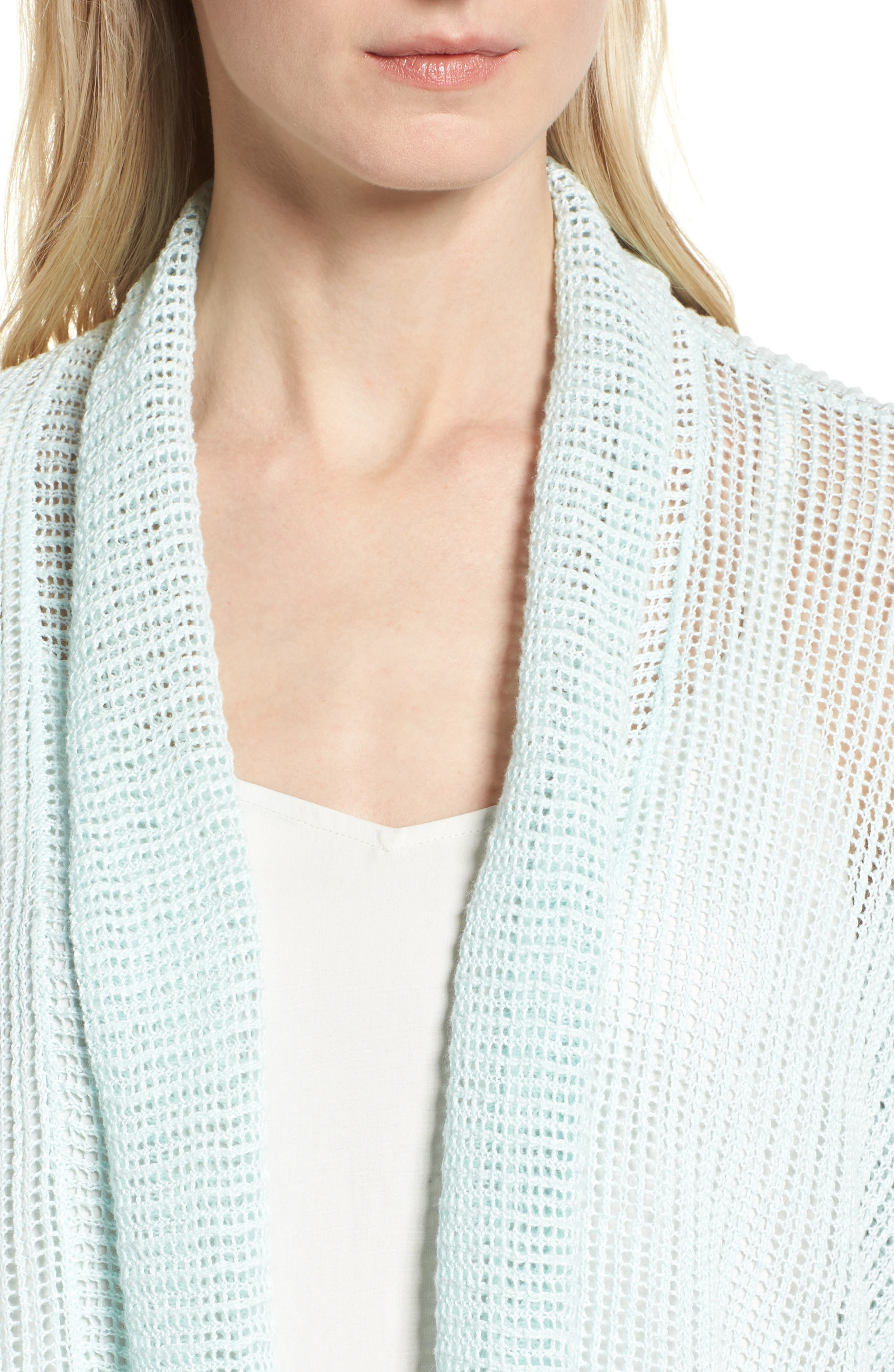 Boxy Organic Linen Cardigan,                             Alternate thumbnail 19, color,
