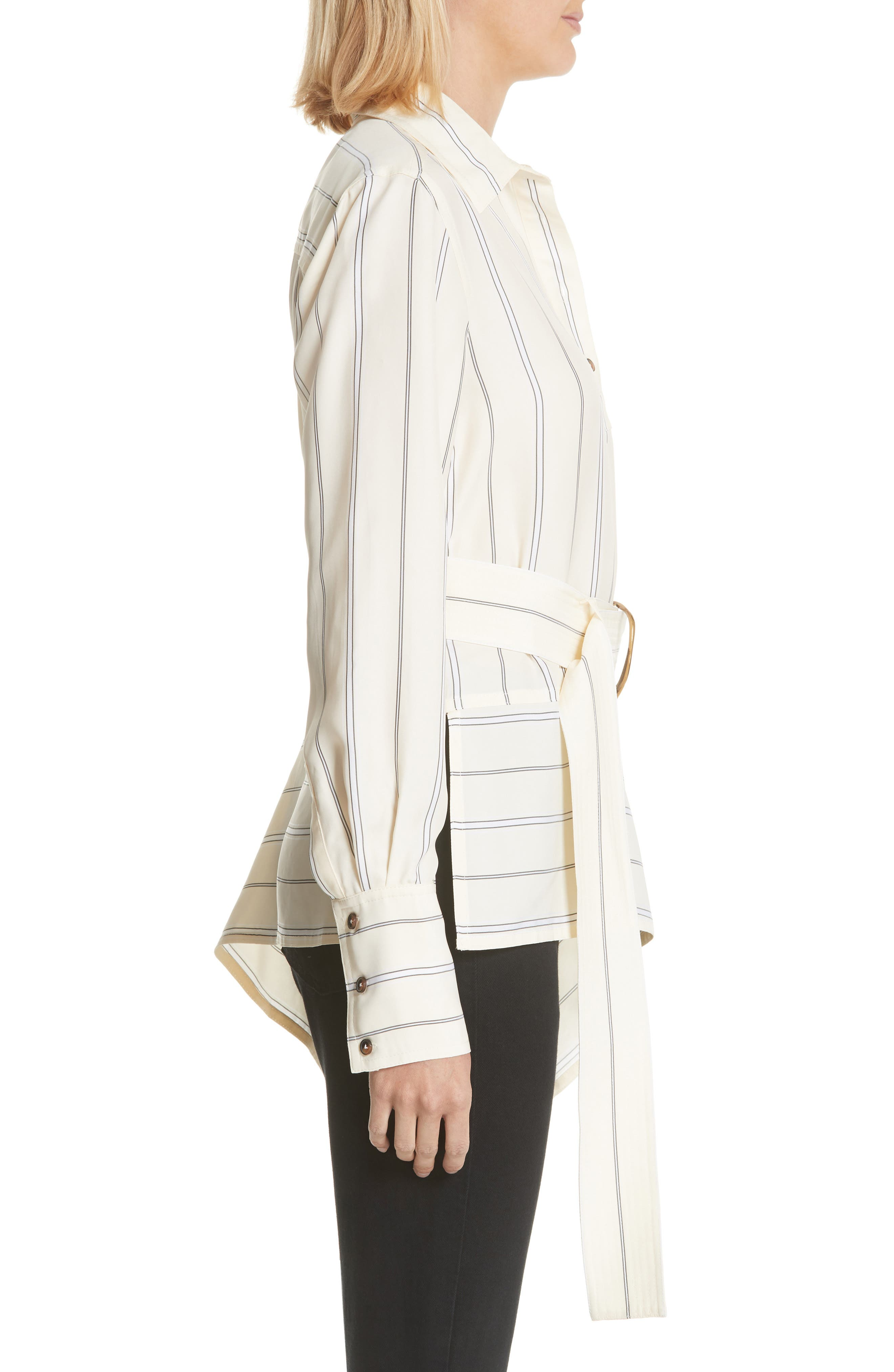 Asymmetrical Stripe Shirt,                             Alternate thumbnail 3, color,