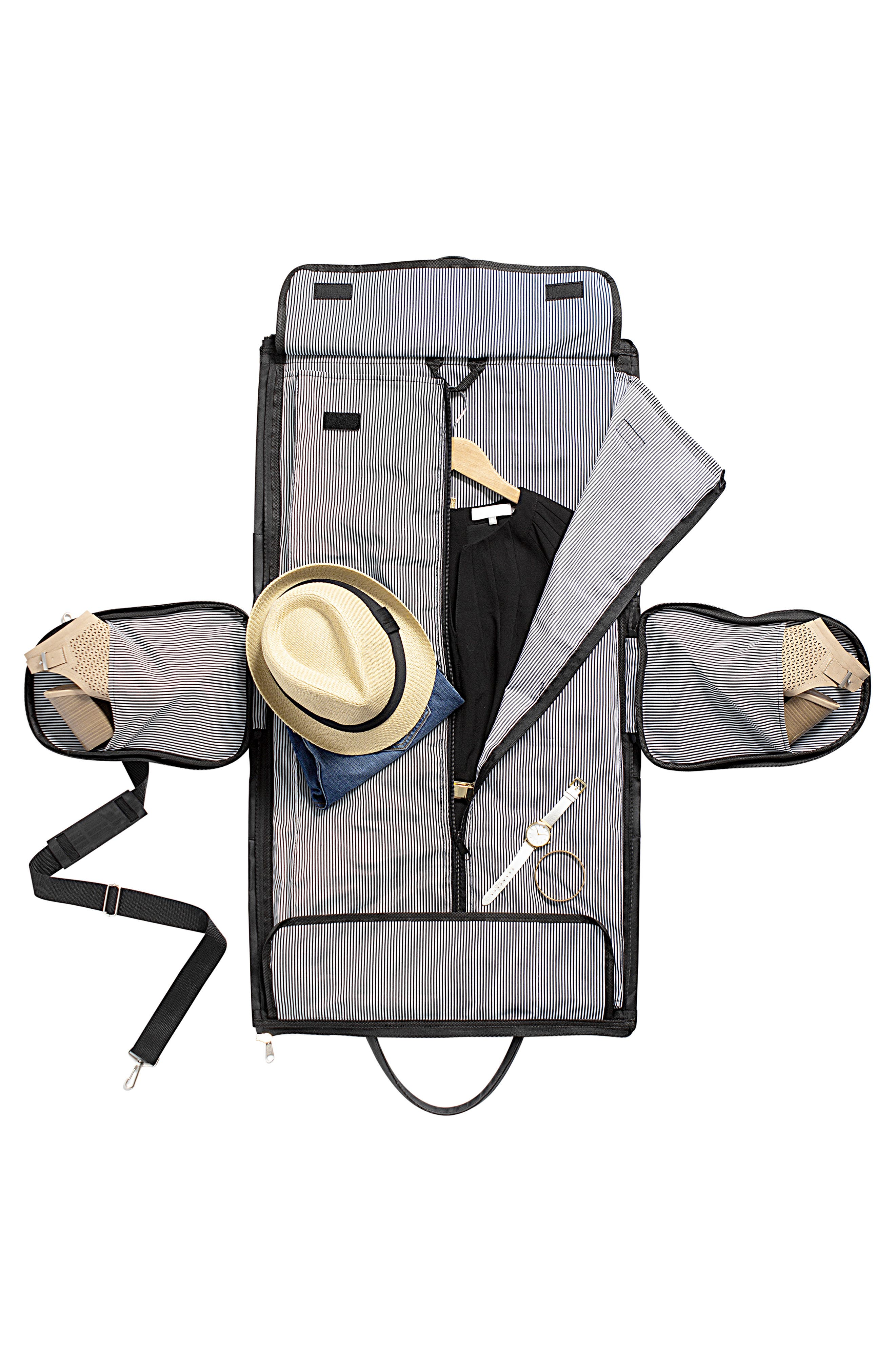 Monogram Duffel/Garment Bag,                             Alternate thumbnail 5, color,                             BLACK