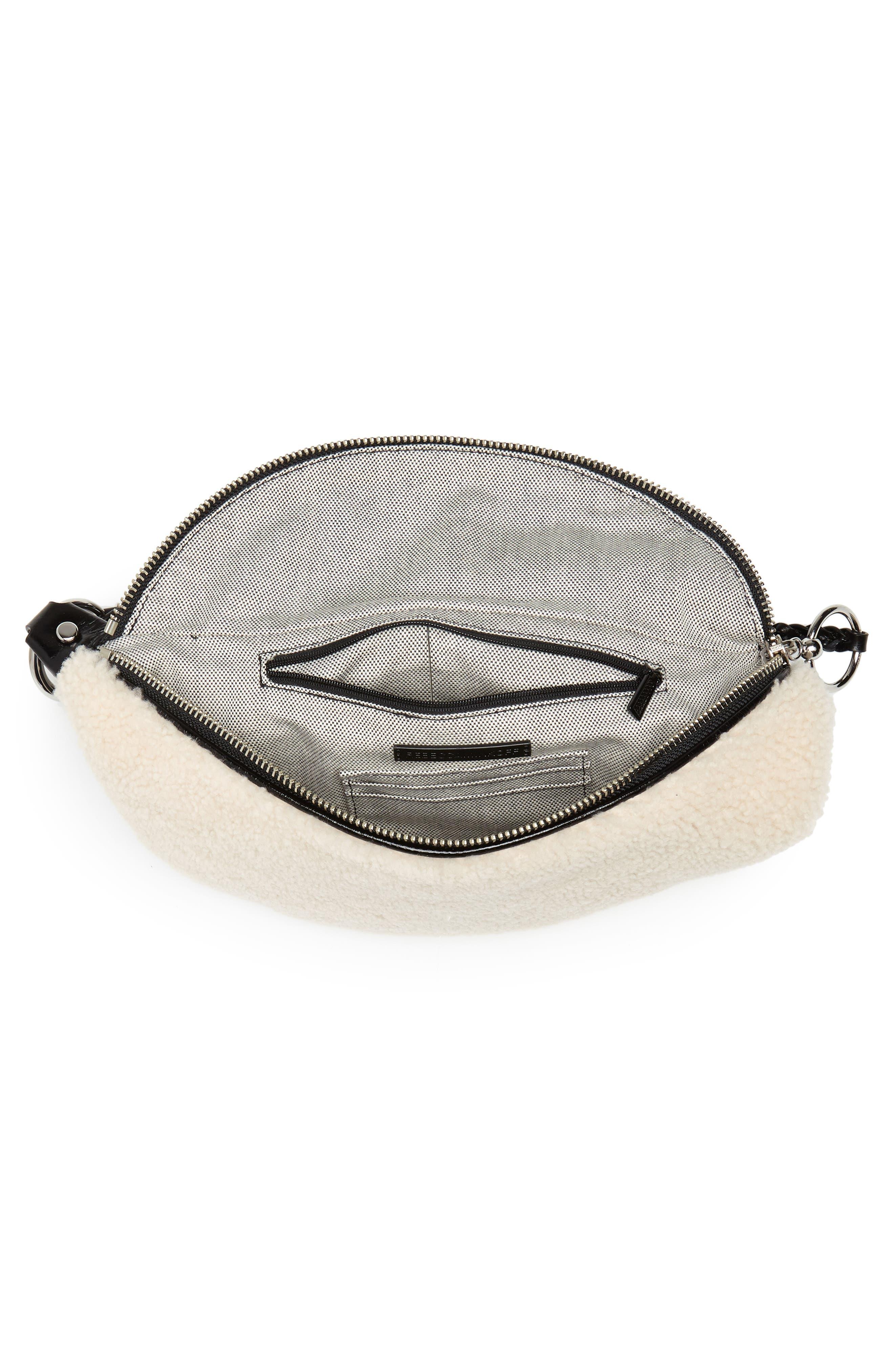 Genuine Shearling Belt Bag,                             Alternate thumbnail 5, color,                             NATURAL