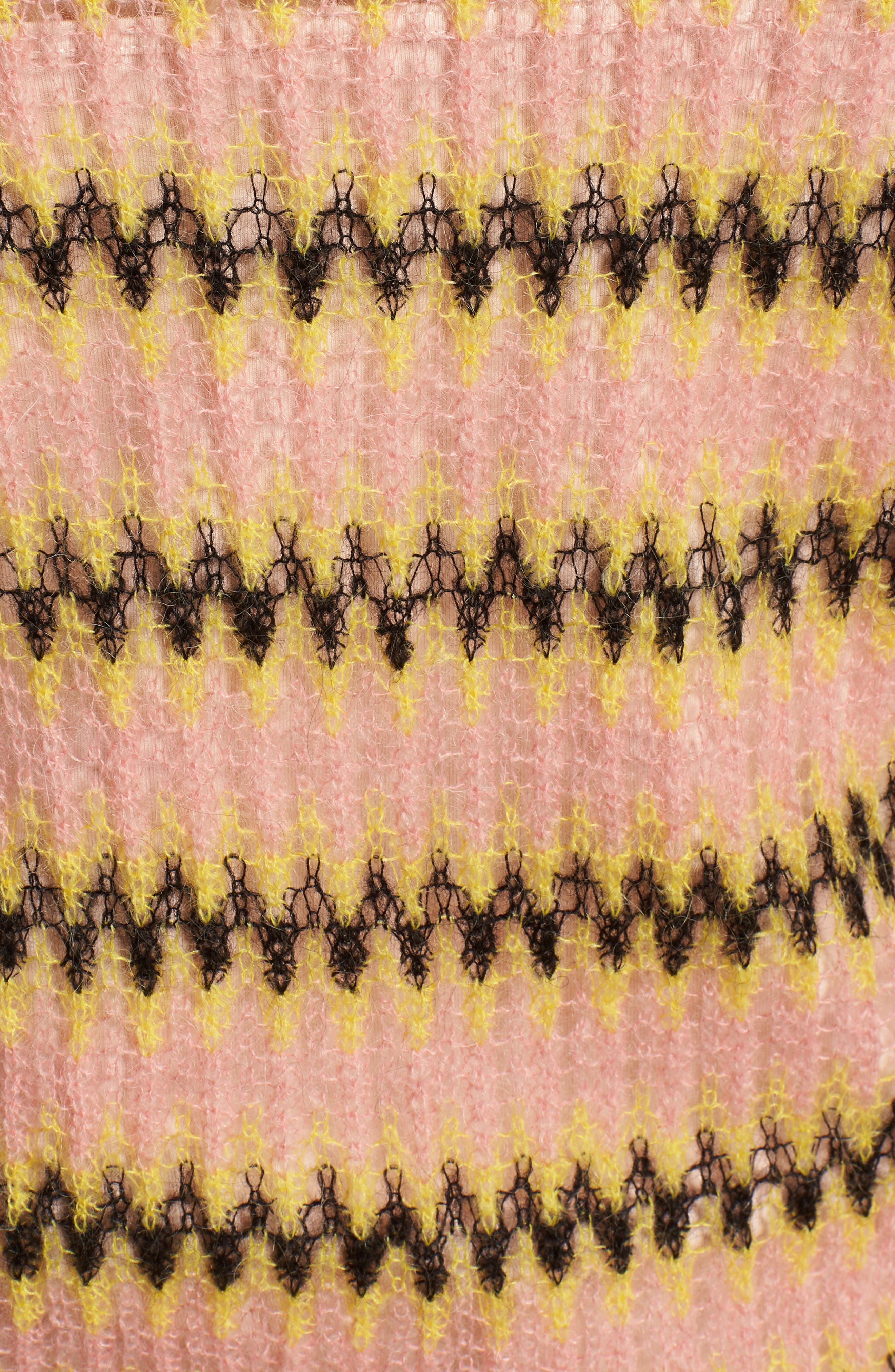Zig Zag Wool Blend Sweater,                             Alternate thumbnail 5, color,                             MULTI PINK YELLOW ZIGZAG PRINT