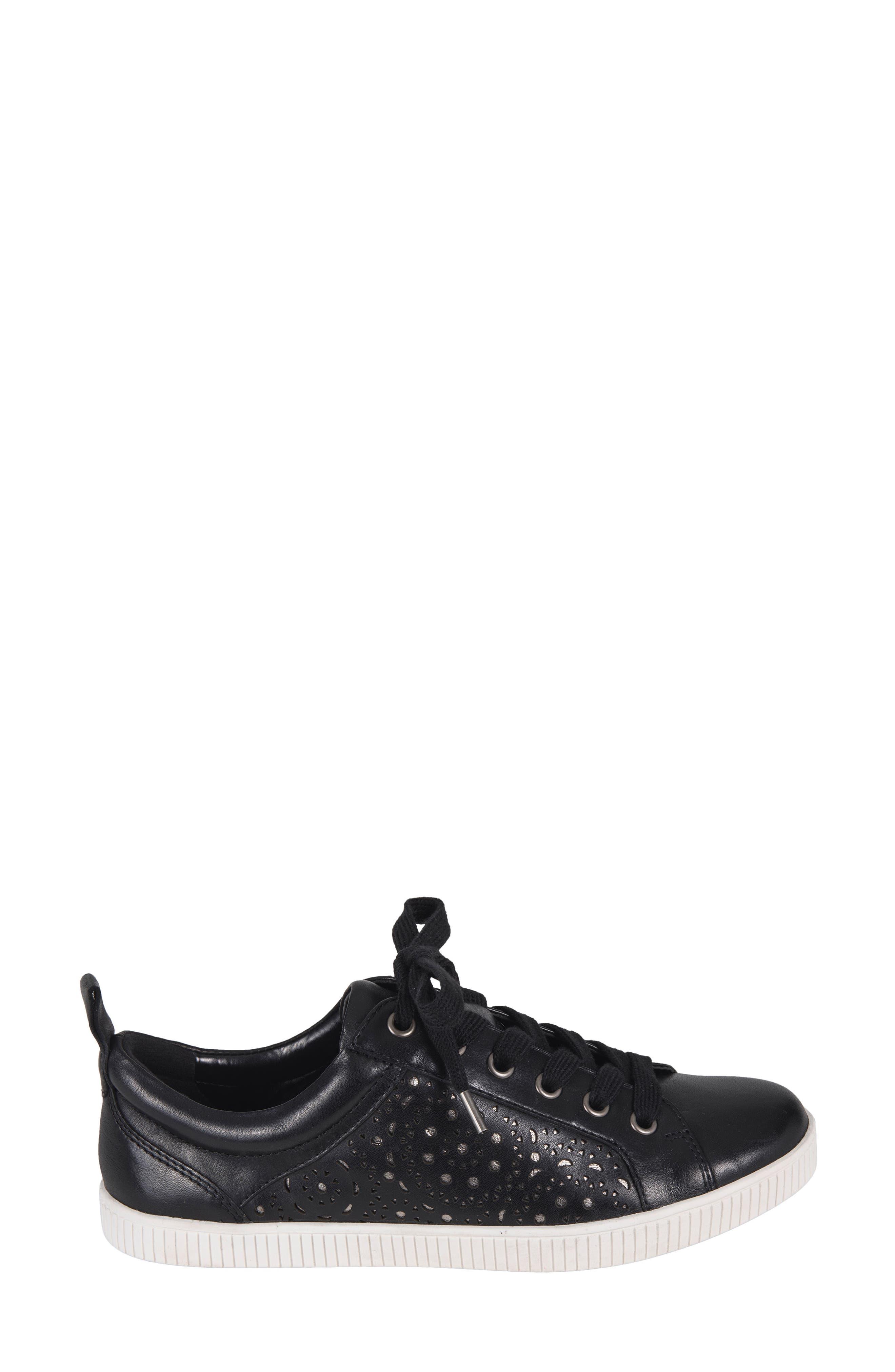 Tangor Perforated Sneaker,                             Alternate thumbnail 3, color,                             001