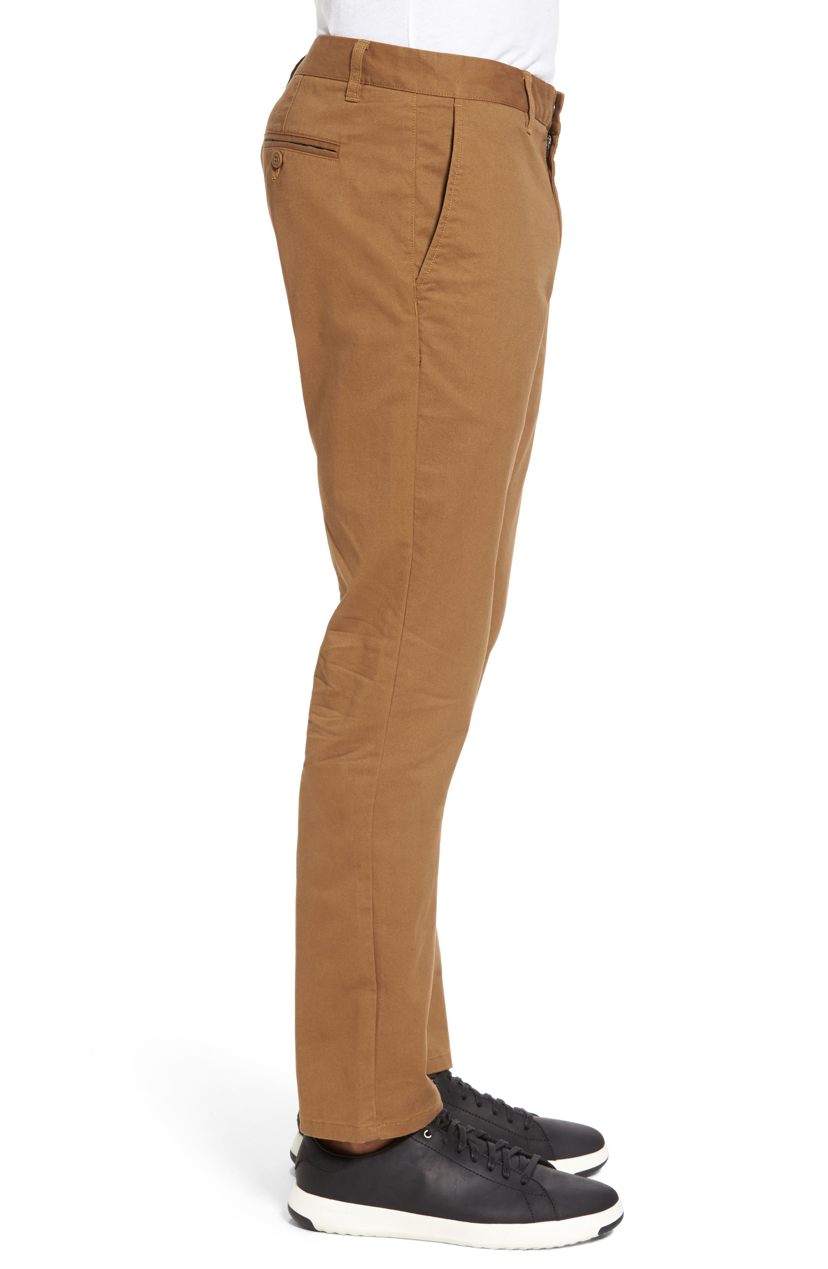 Tailored Fit Washed Stretch Cotton Chinos,                             Alternate thumbnail 75, color,