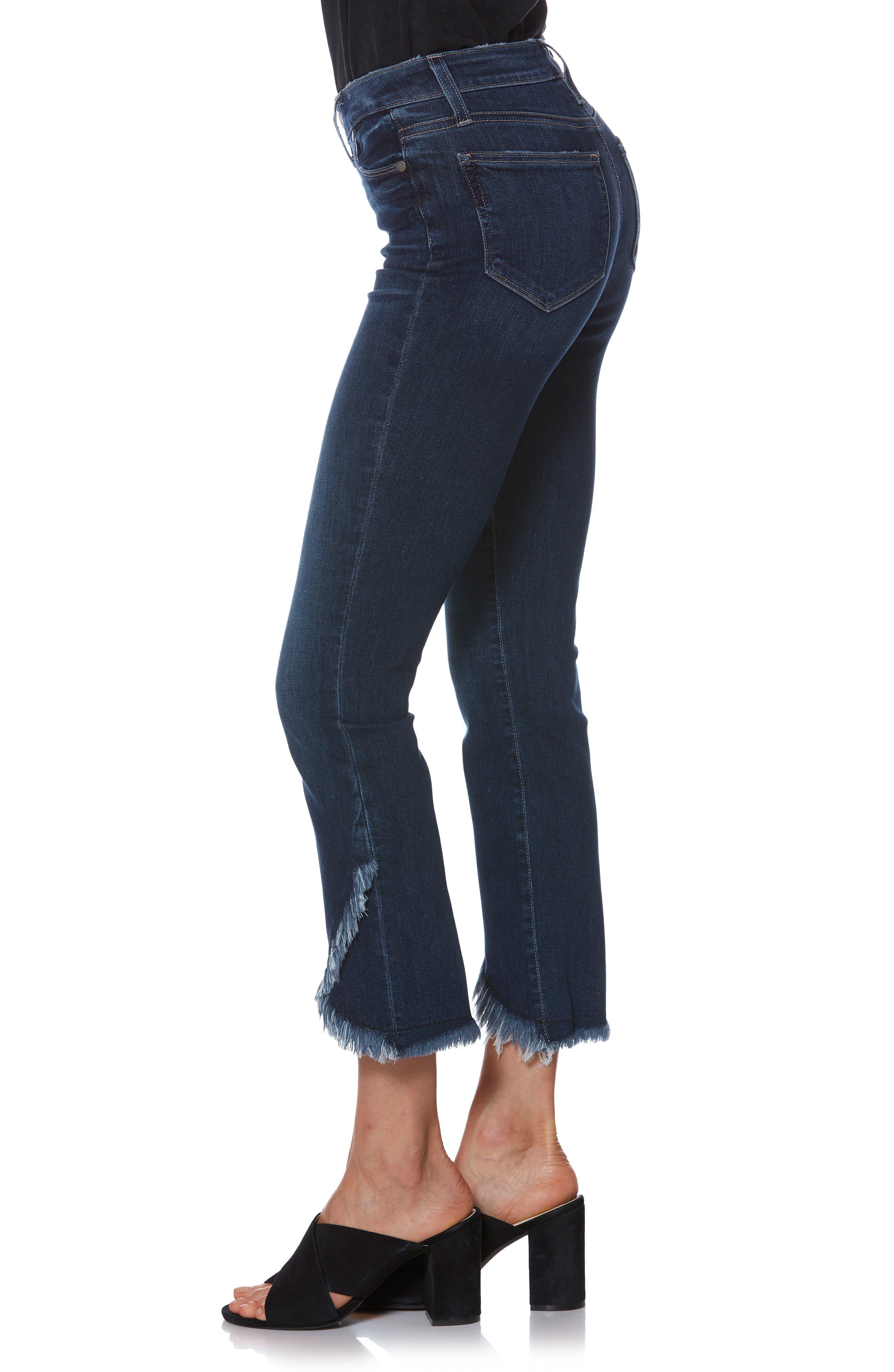 PAIGE,                             Transcend Vintage - Colette Frayed Crop Flare Jeans,                             Alternate thumbnail 3, color,                             PALMA