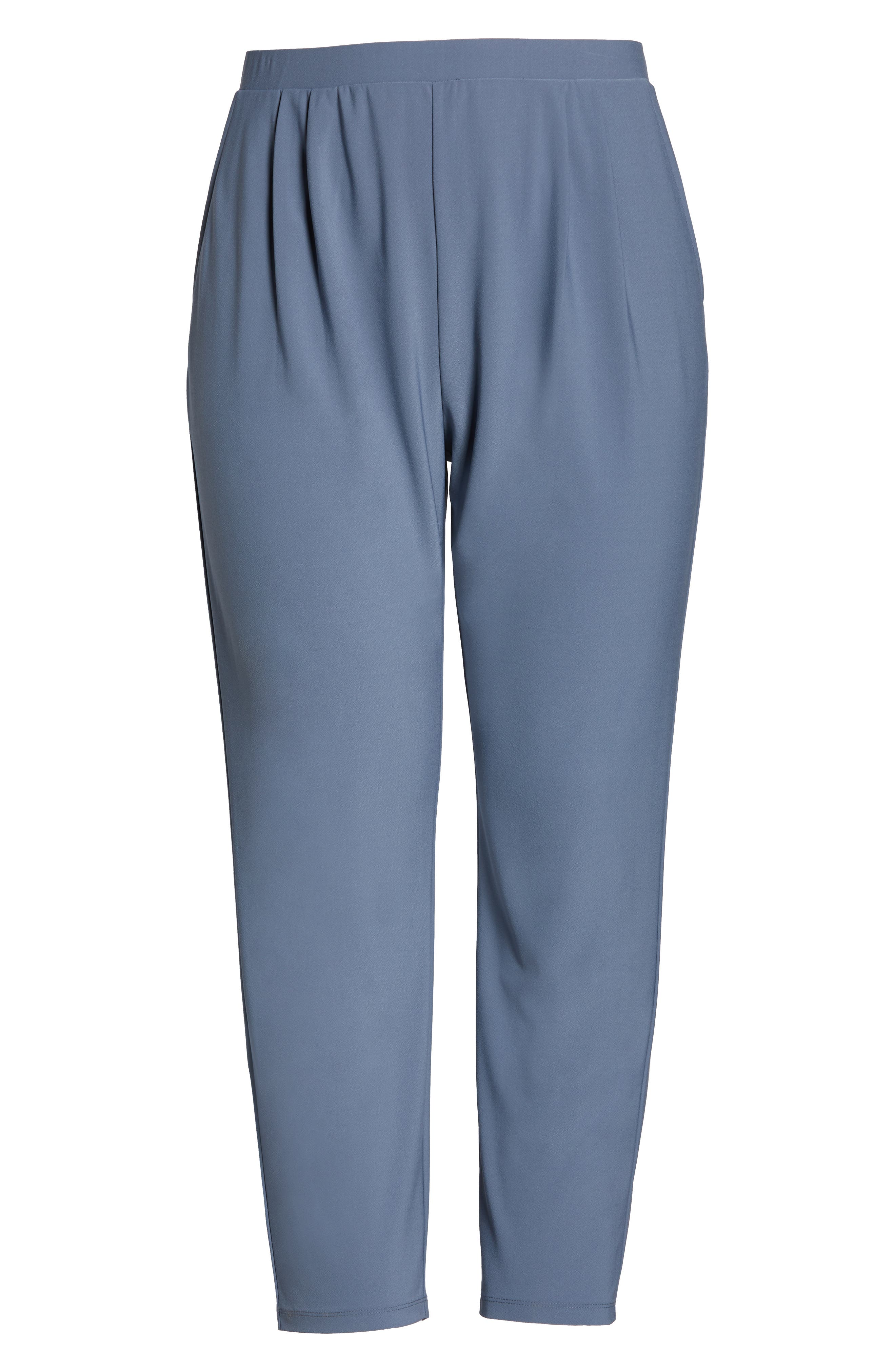 High Rise Pleated Pants,                             Alternate thumbnail 7, color,                             GREY GRISAILLE