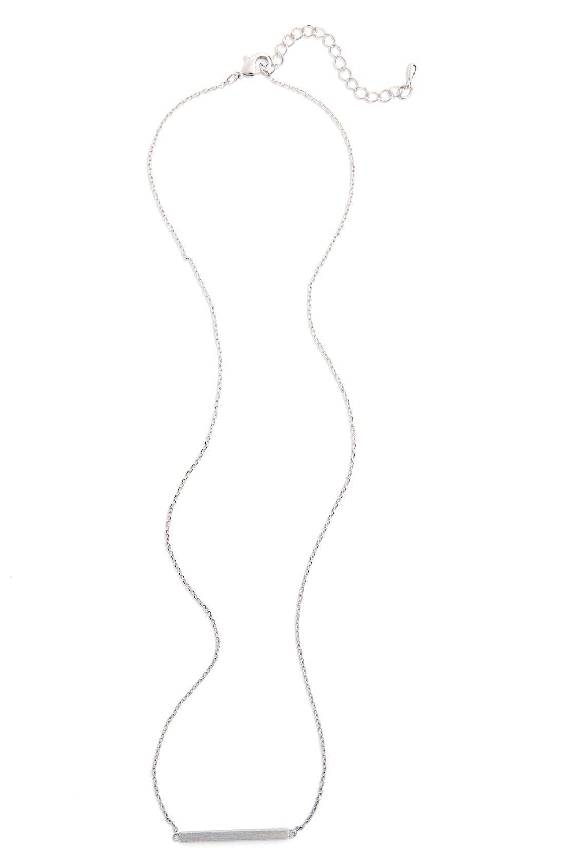 Bar Pendant Necklace,                             Main thumbnail 1, color,                             040