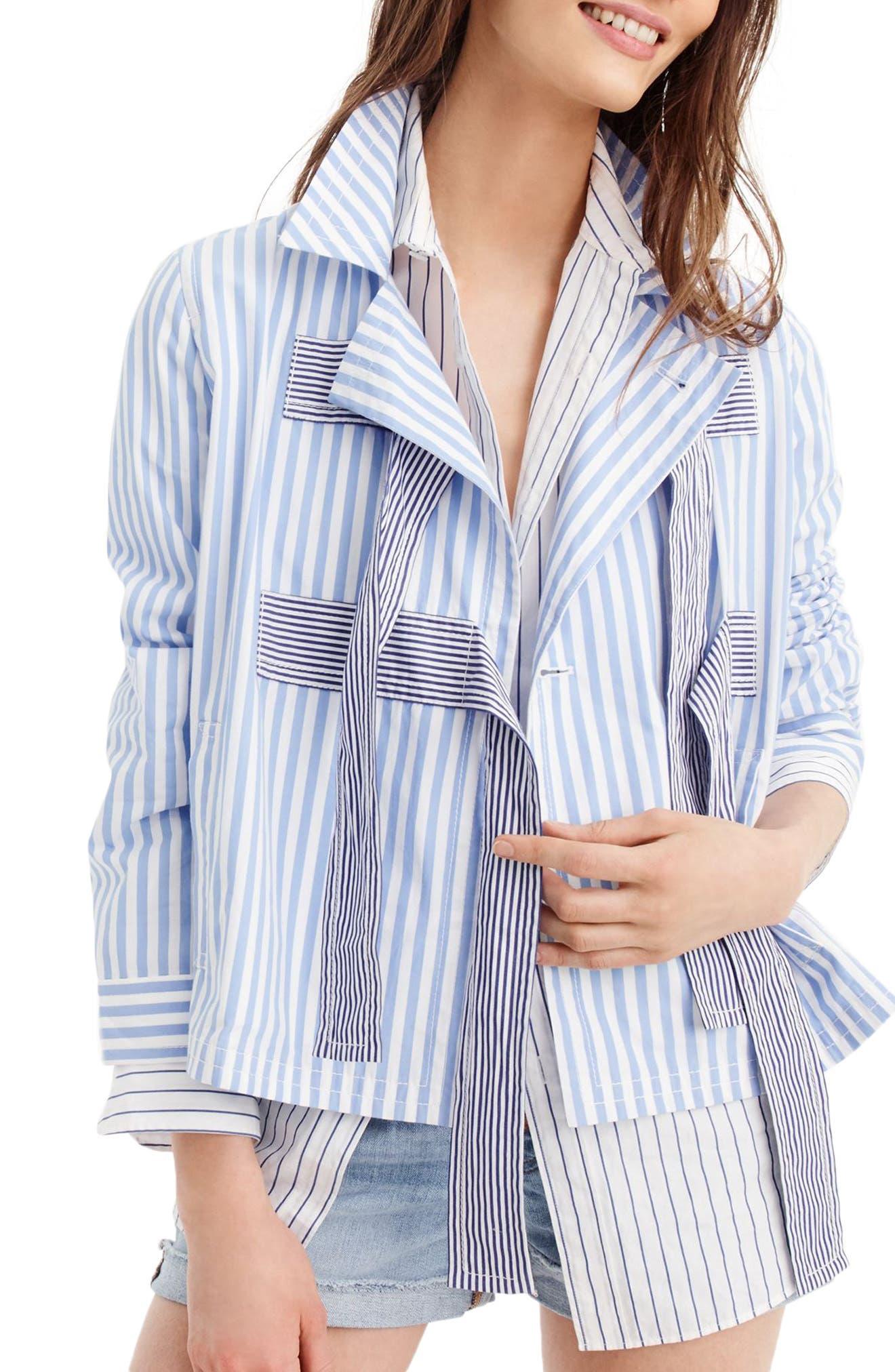 Rhonda Mixed Stripe Bow Jacket,                             Alternate thumbnail 2, color,