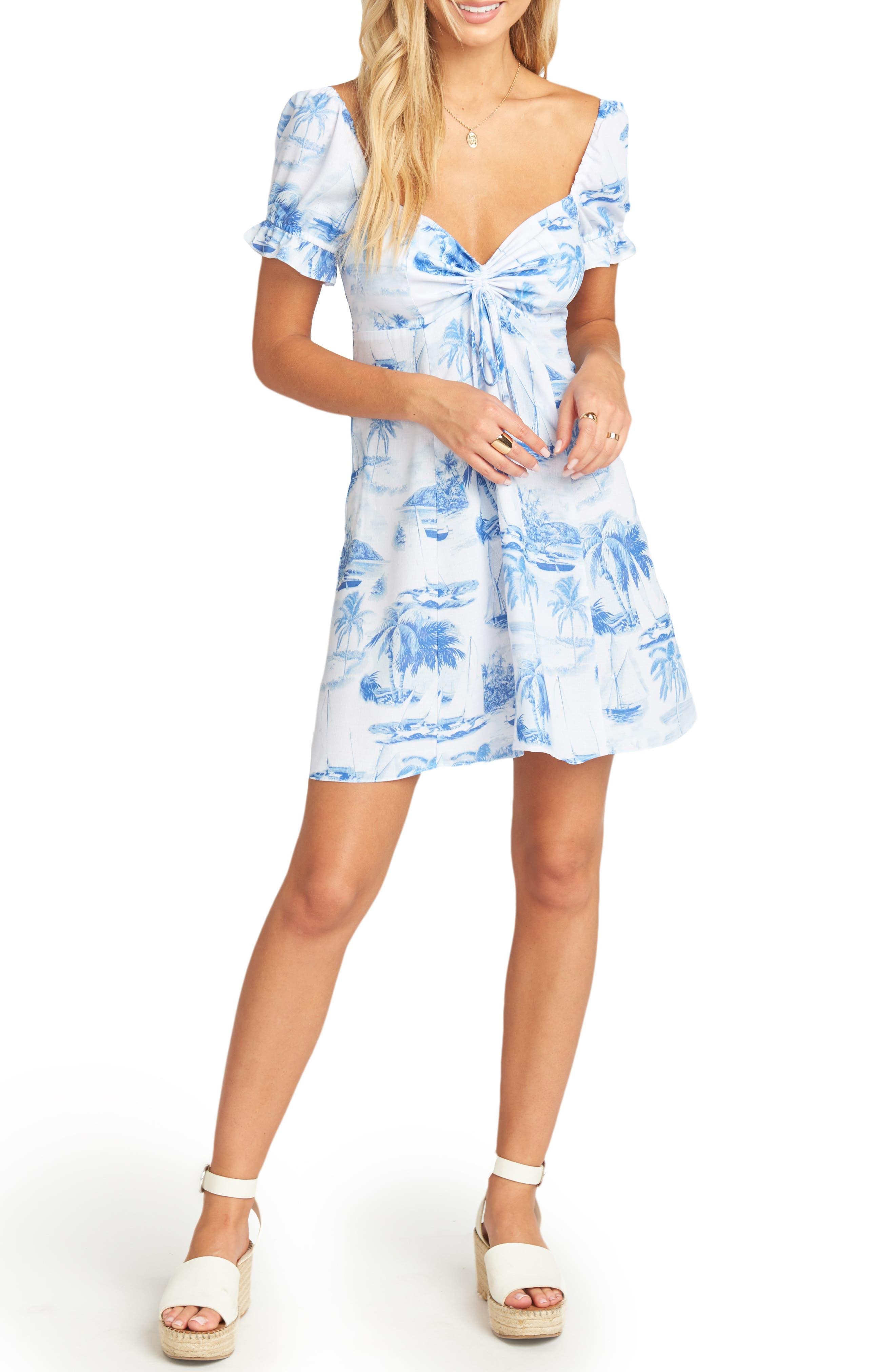 Show Me Your Mumu Della Minidress, Blue