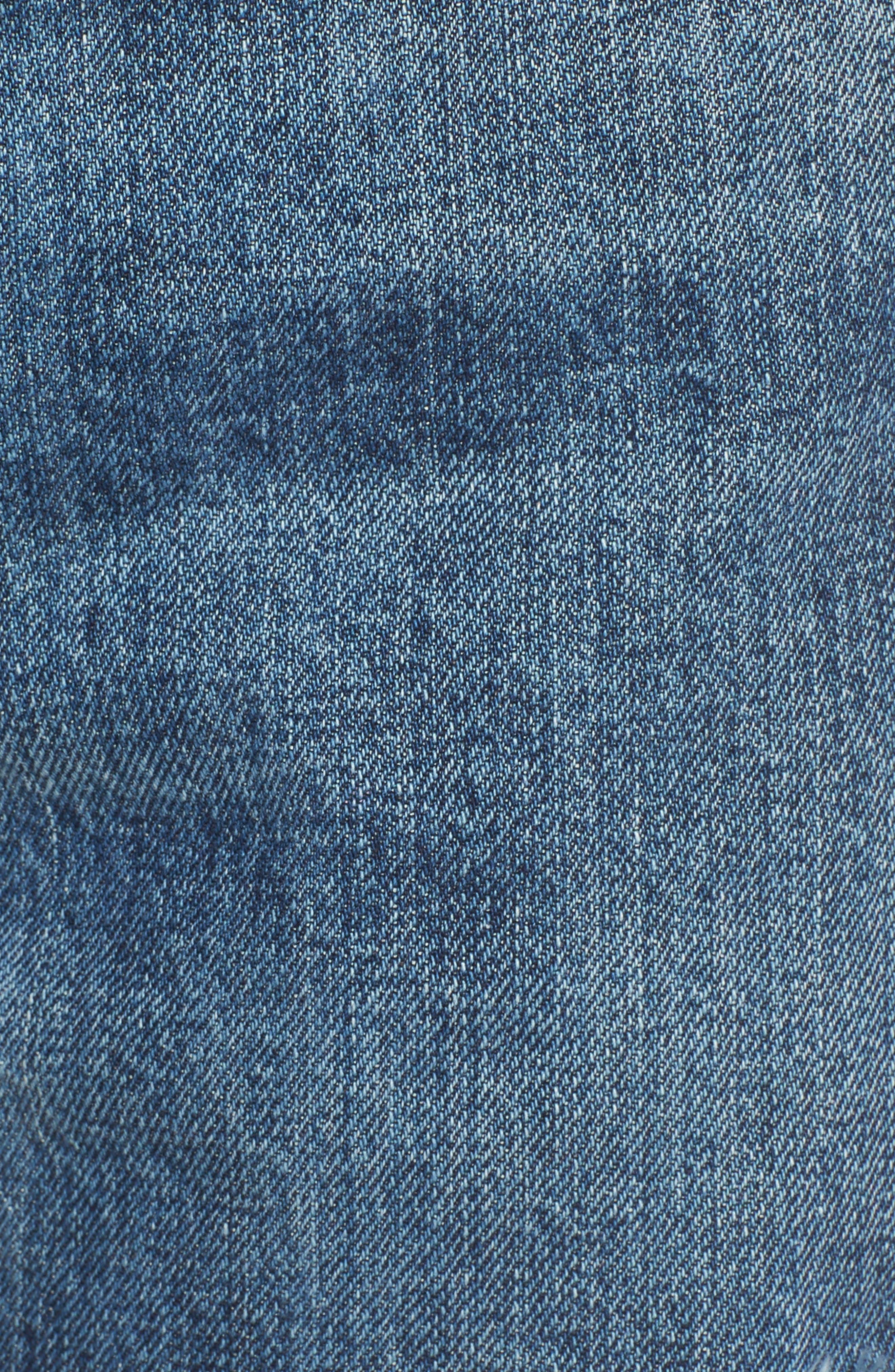 Lou High Waist Cutoff Denim Shorts,                             Alternate thumbnail 5, color,                             400