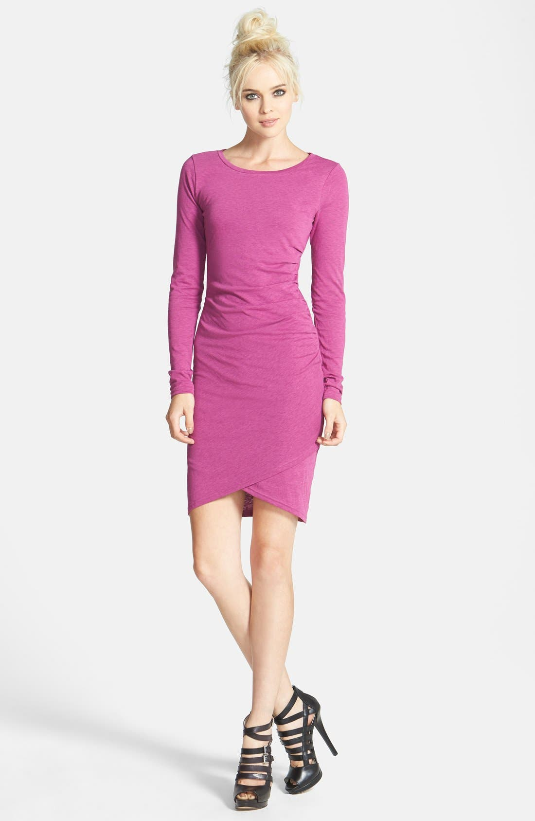 Ruched Long Sleeve Dress,                             Main thumbnail 22, color,