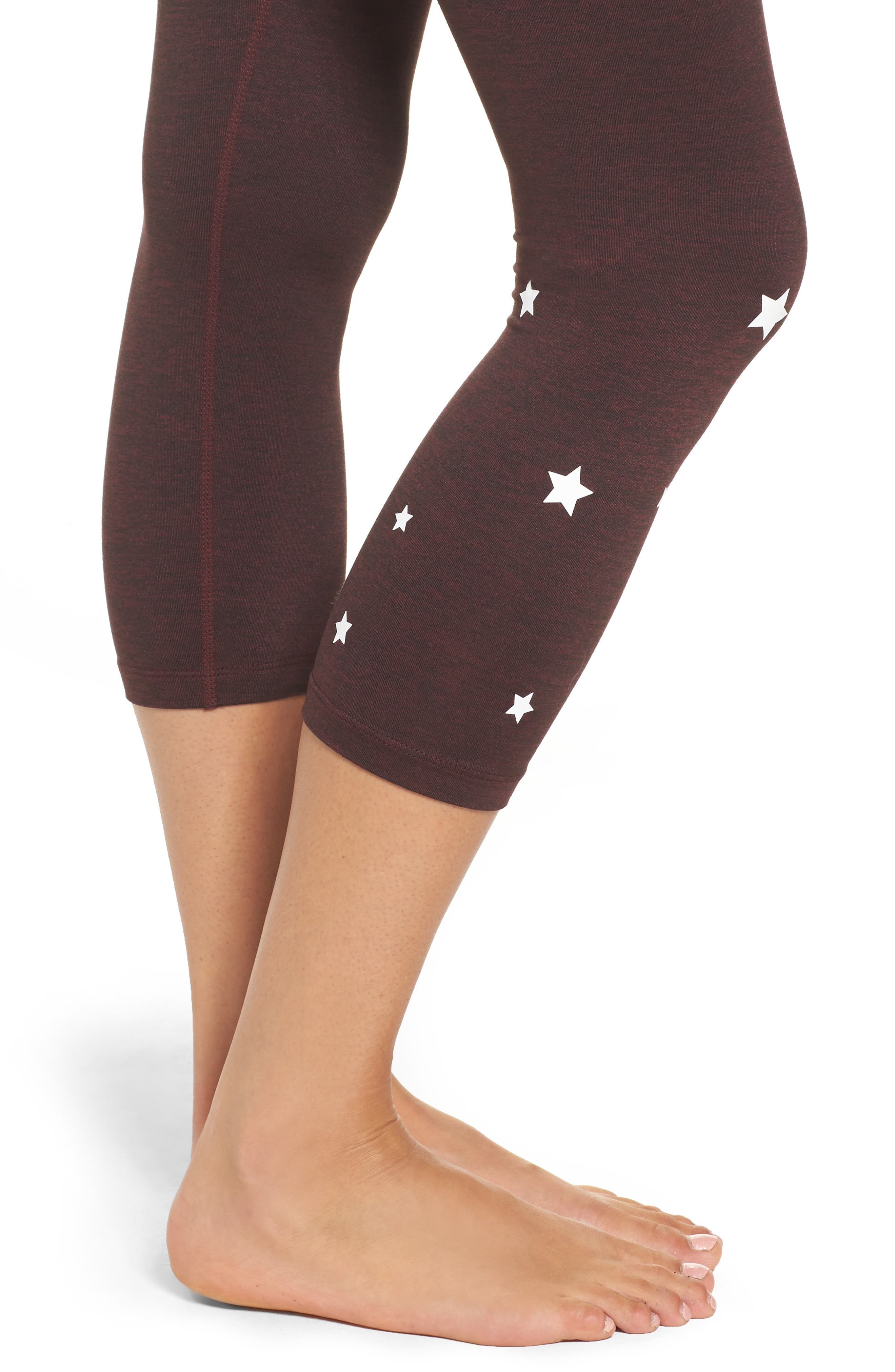 Stars Power Crop Leggings,                             Alternate thumbnail 4, color,                             602