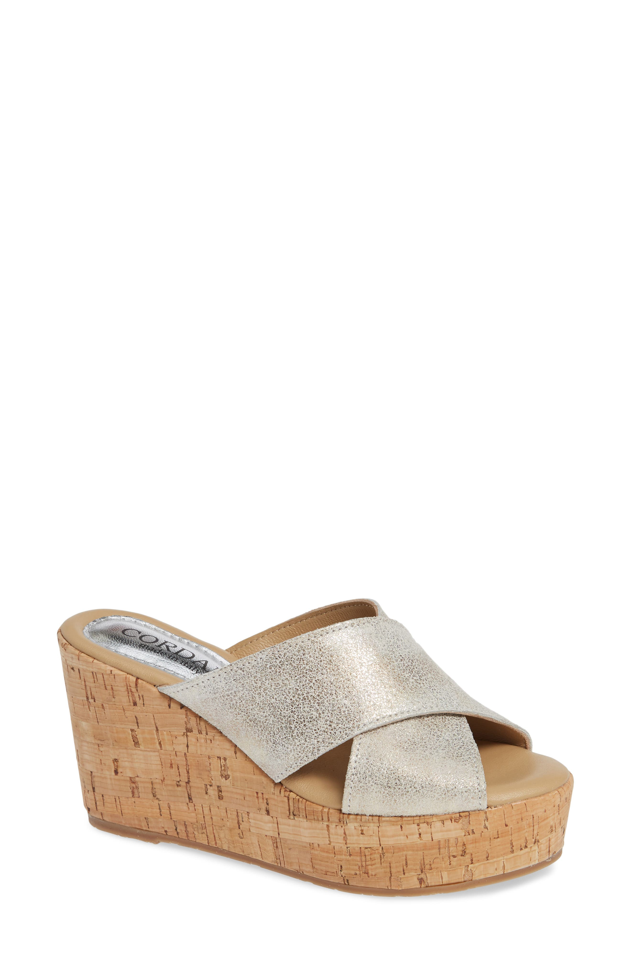 Jan Platform Wedge Slide Sandal, Main, color, PEARL SUEDE
