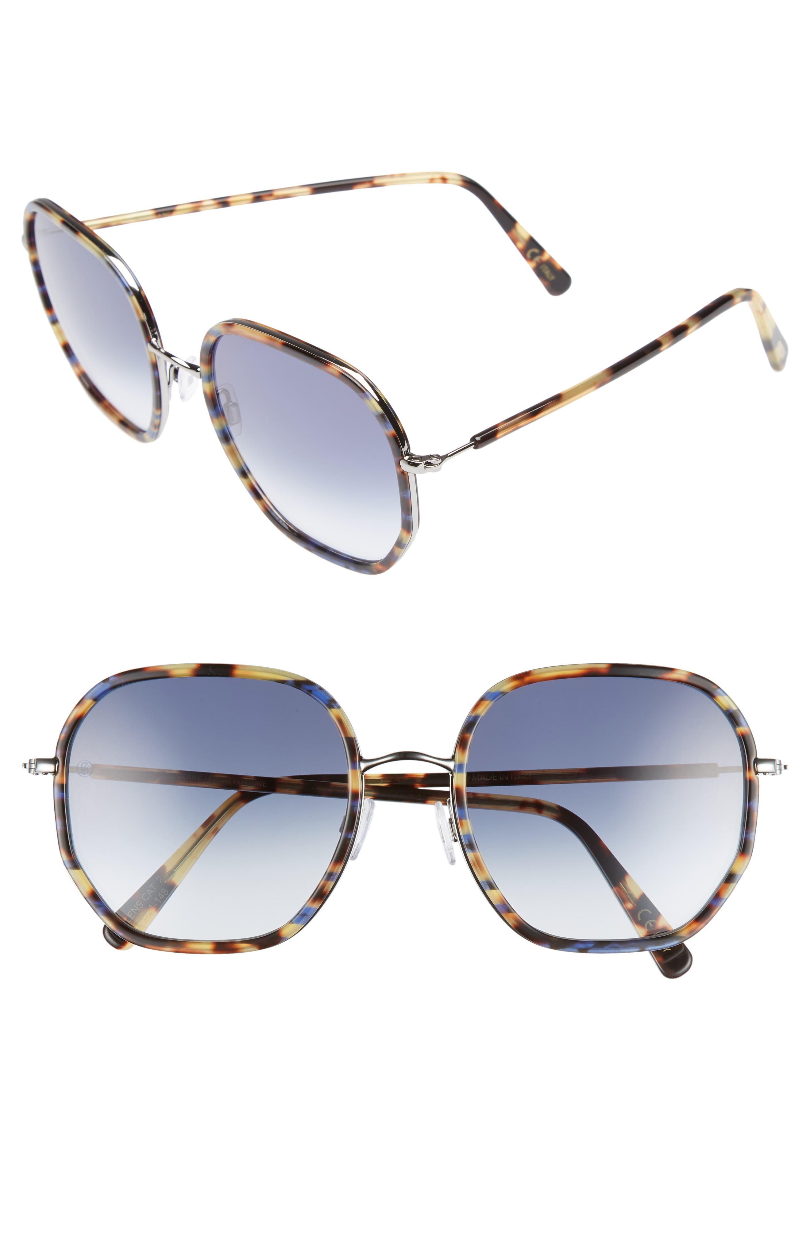 D'BLANC Rare Fortune 59mm Sunglasses,                         Main,                         color, INDIGO TORTOISE