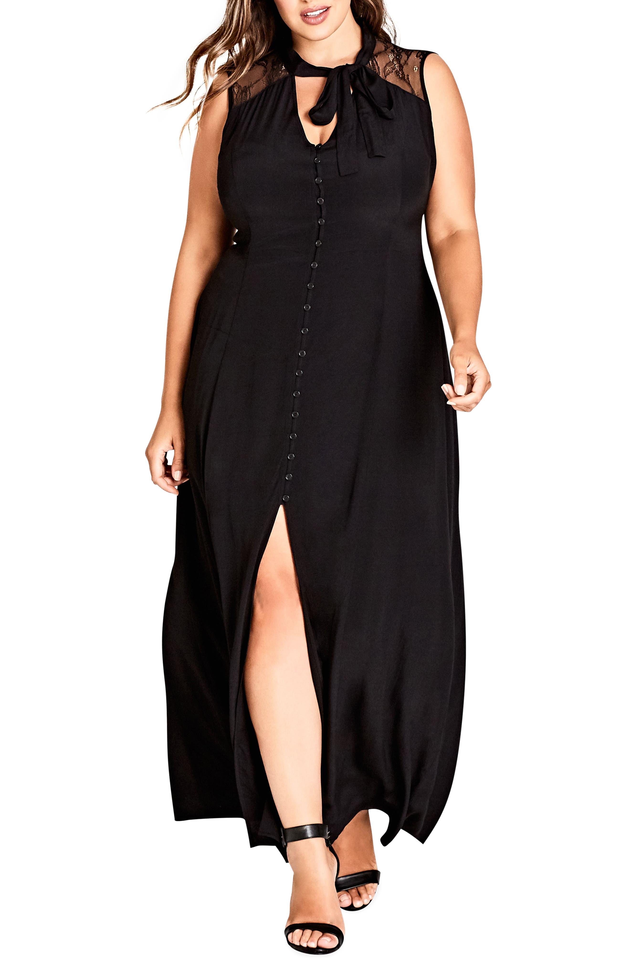Makishi Sleeveless Maxi Dress,                             Main thumbnail 1, color,                             BLACK