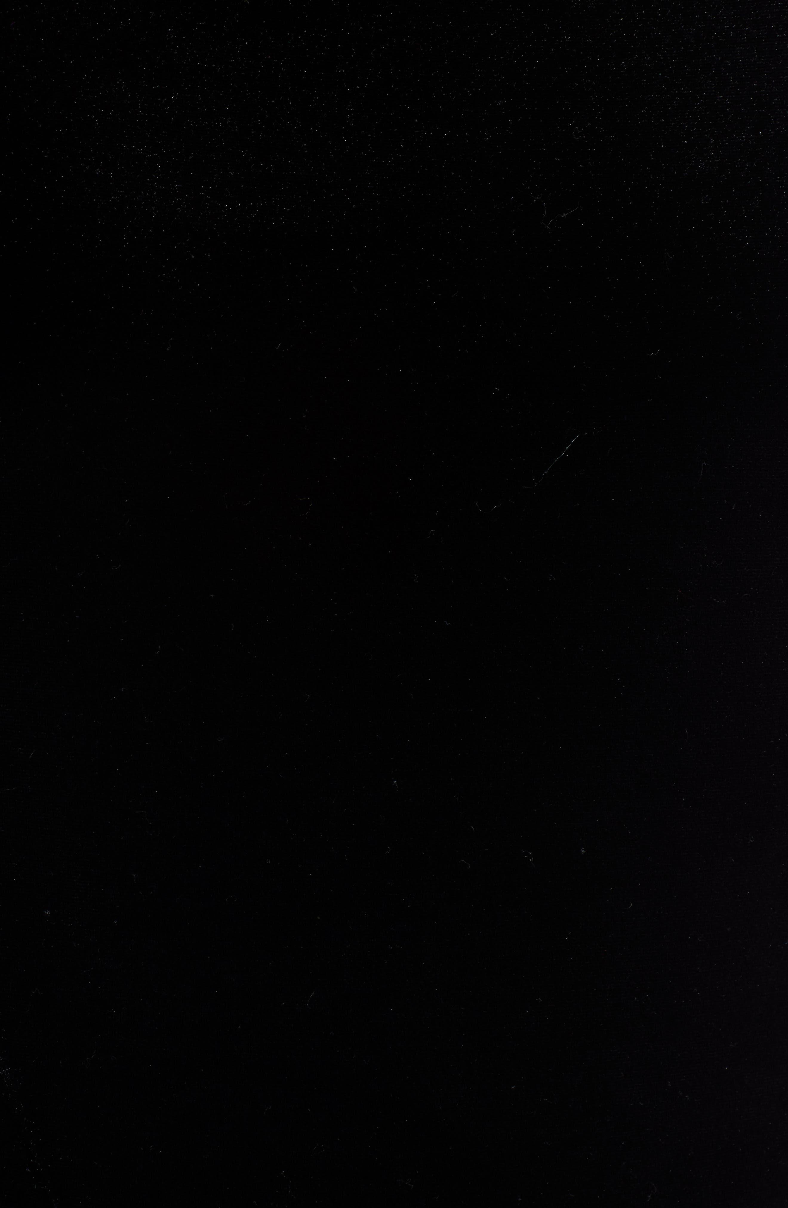 Scallop Edge Velvet Top,                             Alternate thumbnail 5, color,                             BLACK