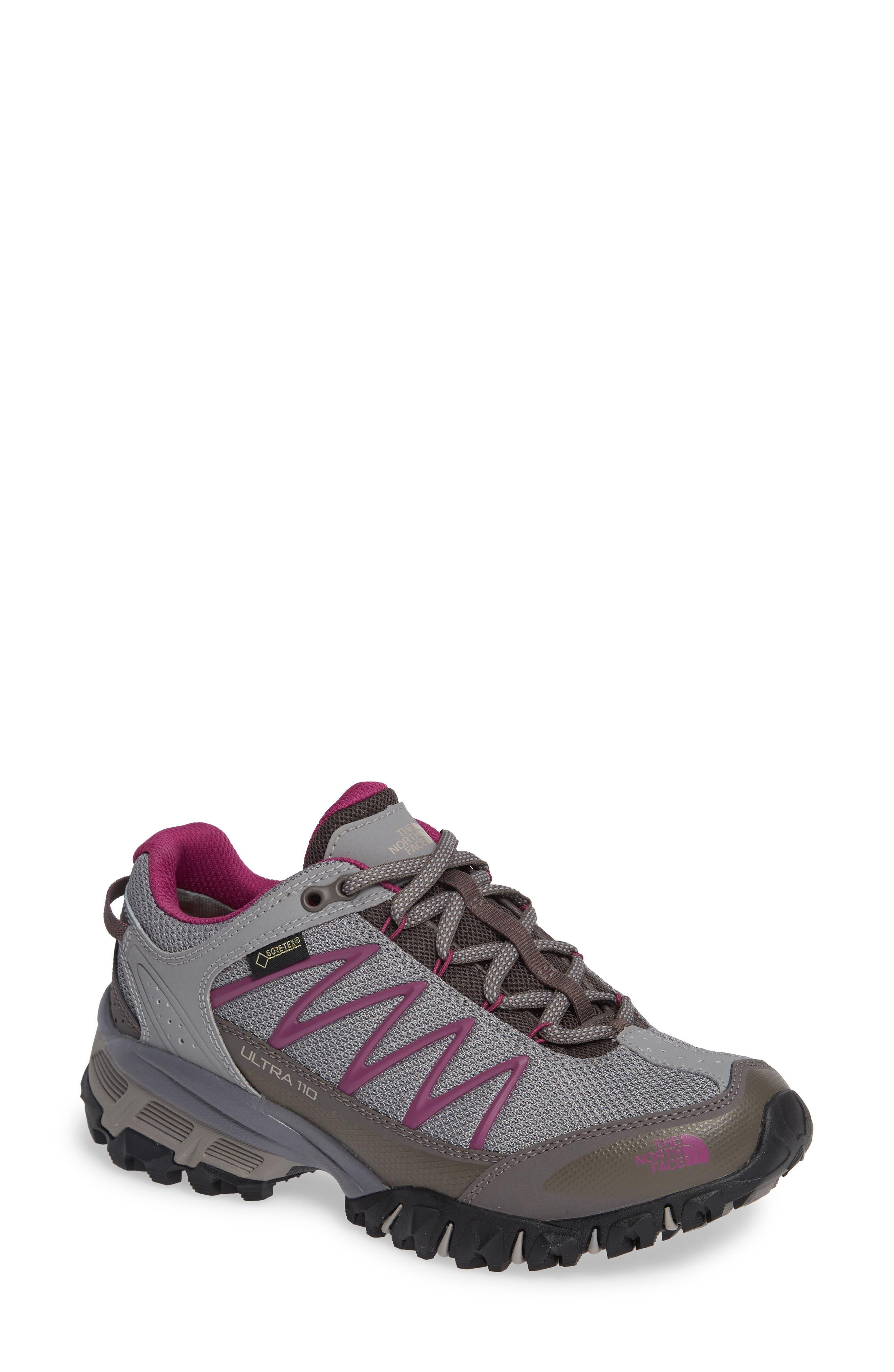 Ultra 110 GTX<sup>®</sup> Hiking Shoe,                             Main thumbnail 1, color,                             Q-SILVER GREY/ ASTER PURPLE